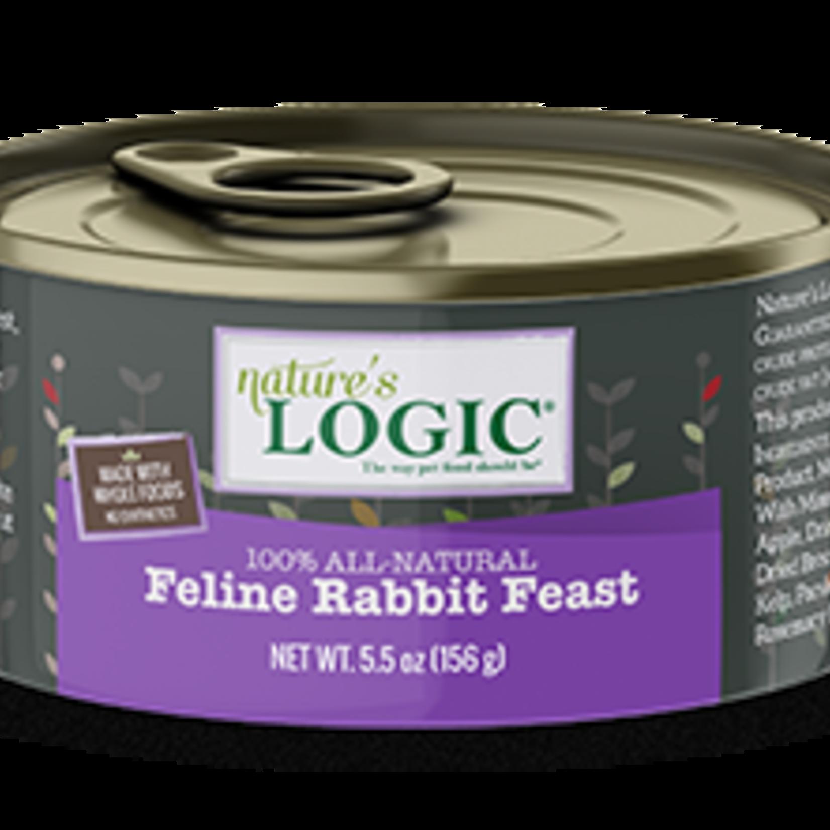 Natures Logic Natures Logic Cat Grain Free Rabbit Feast 5.5 OZ