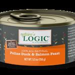 Natures Logic Natures Logic Cat GF Duck & Salmon Feast 5.5 OZ