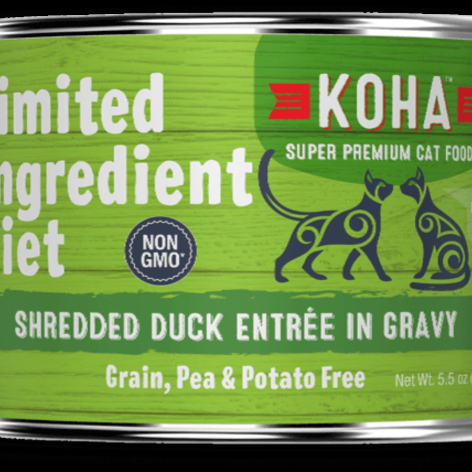 Koha Koha Cat Grain Free LID Shredded Duck 5.5 OZ