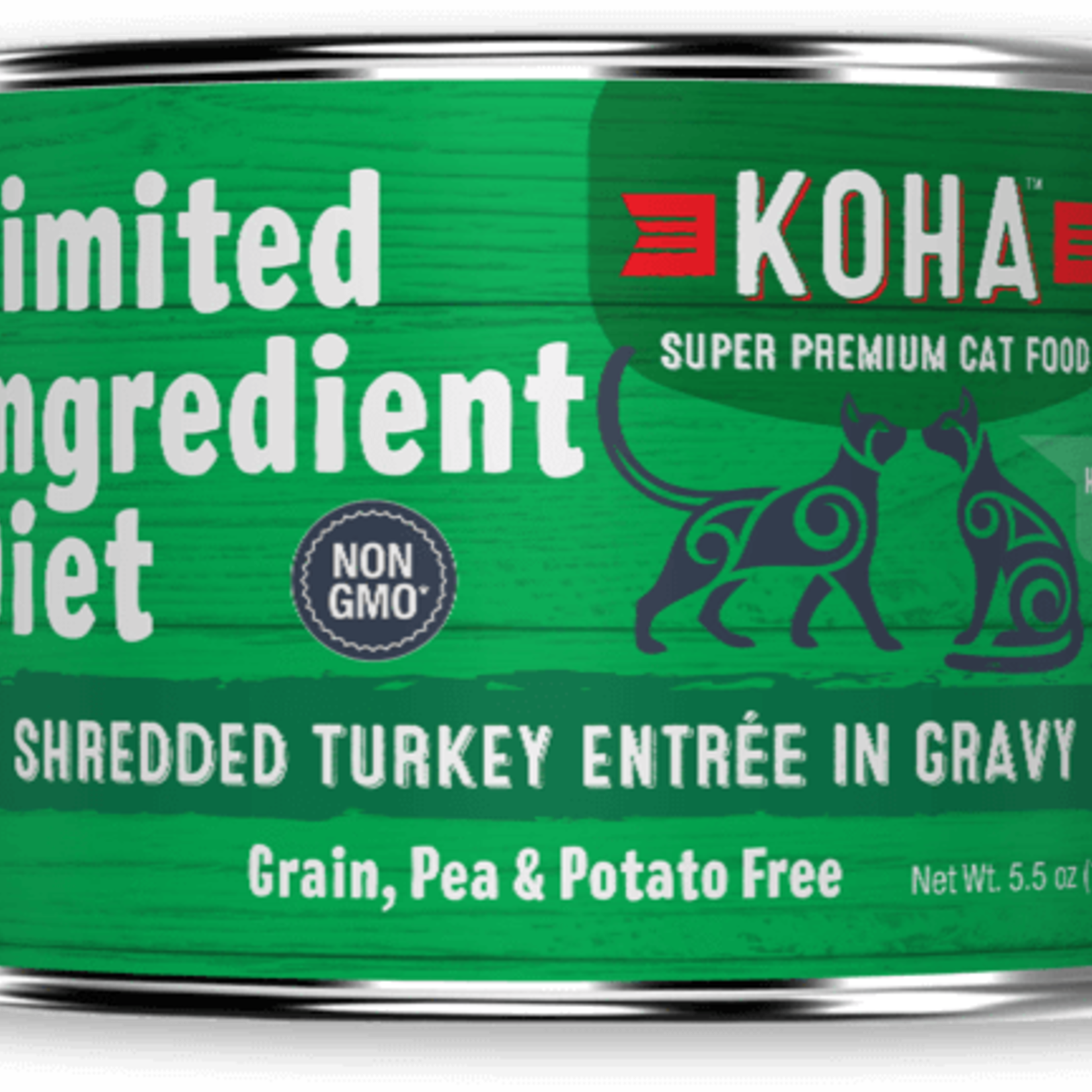 Koha Koha Cat Grain Free LID Shredded Turkey 5.5 OZ