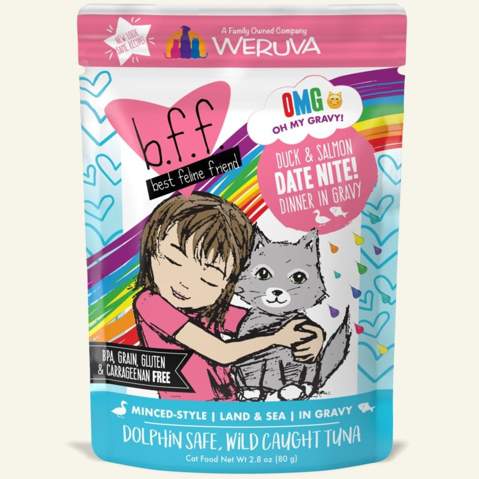 Weruva Inc. BFF OMG Cat Duck & Salmon Date Nite 2.8 OZ Pouch