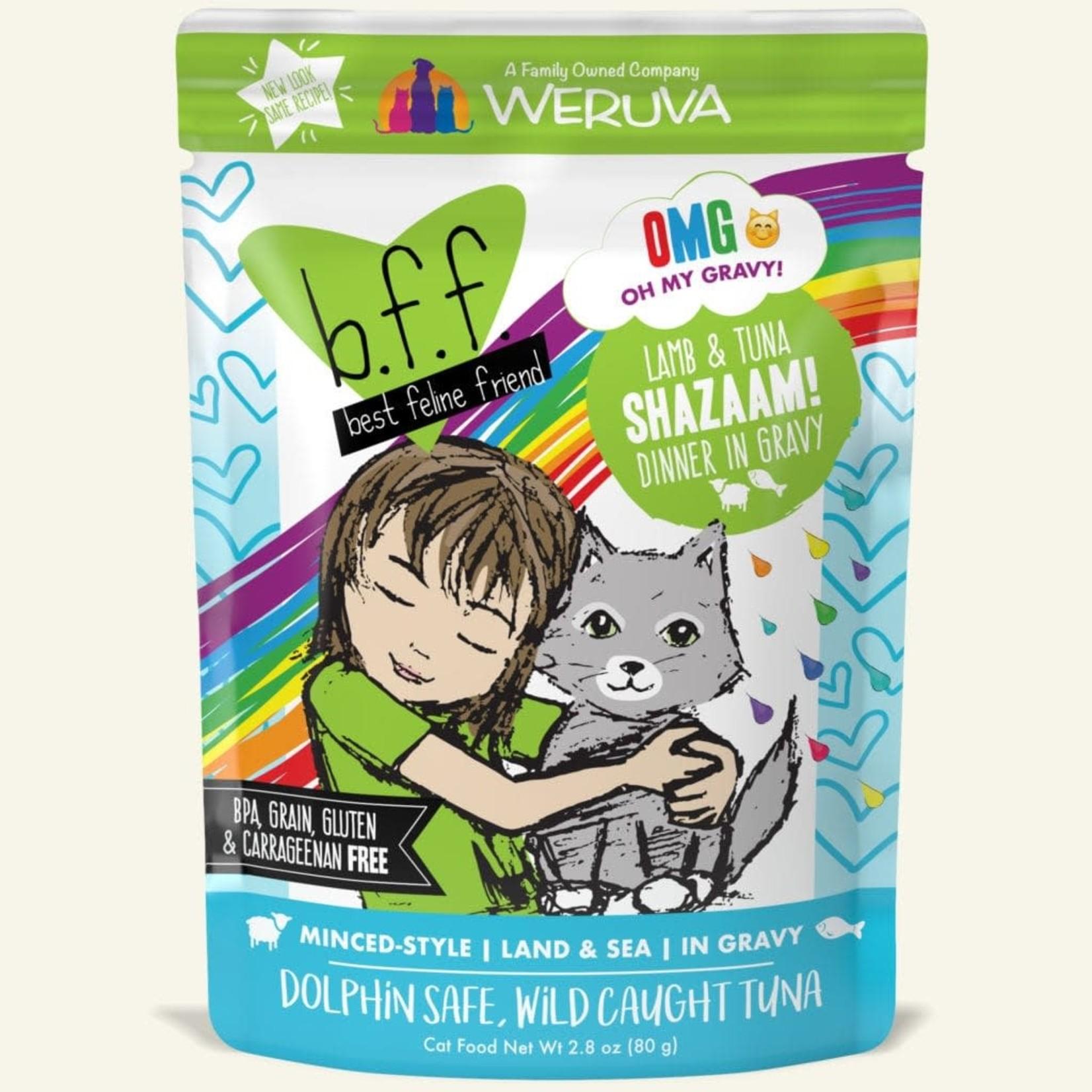 Weruva BFF OMG Cat Lamb & Tuna Shazaam 2.8 OZ Pouch