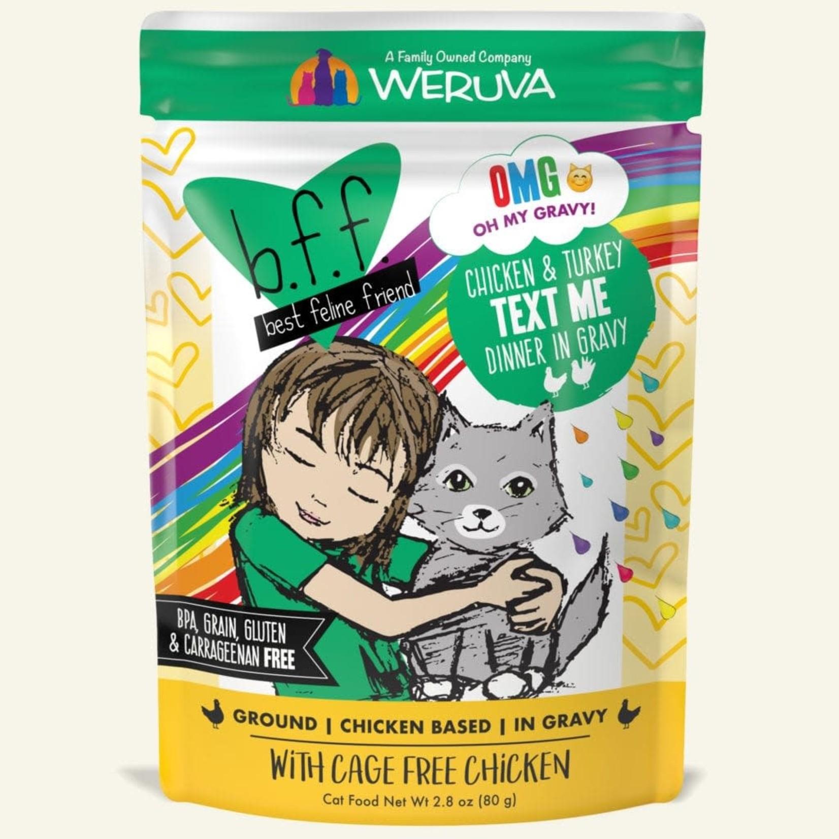 Weruva Inc. BFF OMG Cat Chicken & Turkey Text Me 2.8 OZ Pouch
