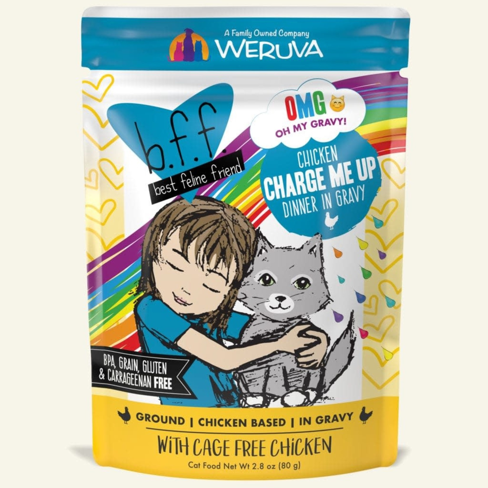 Weruva Inc. BFF OMG Cat Chicken Charge Me Up 2.8 OZ Pouch