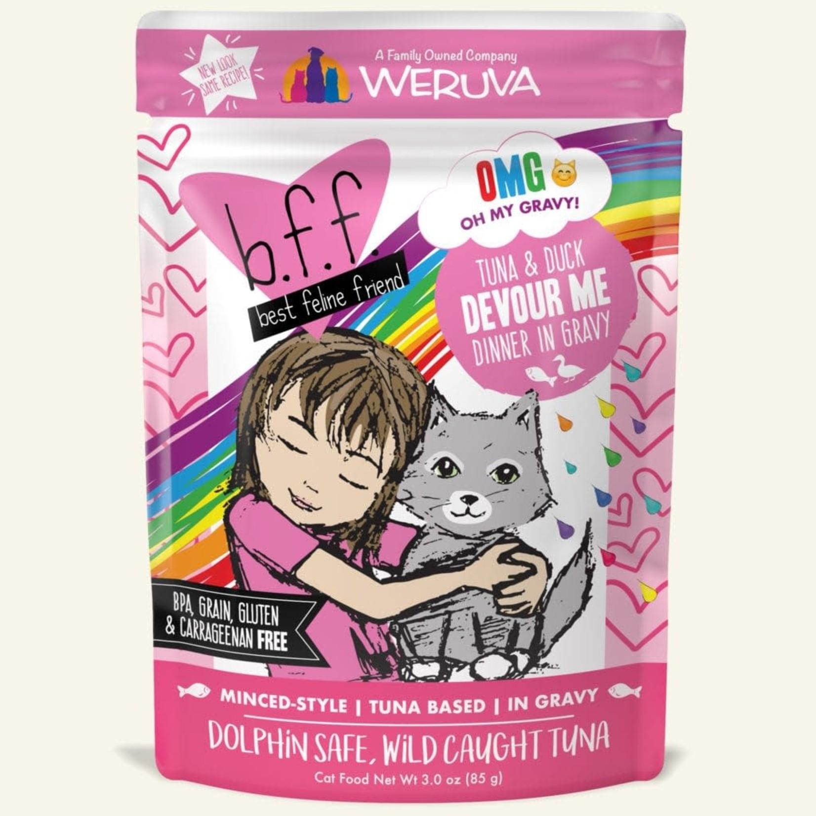 Weruva Inc. BFF OMG Cat Tuna & Duck Devour Me 3 OZ Pouch