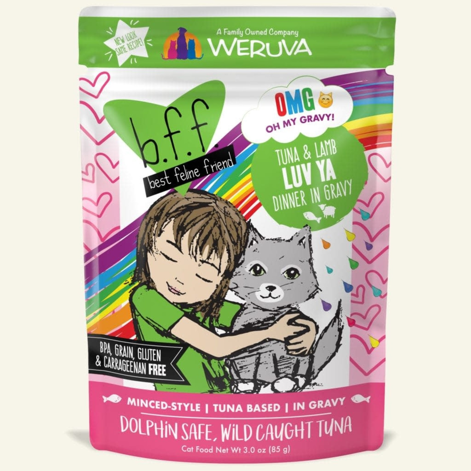 Weruva Inc. BFF OMG Cat Tuna & Lamb Luv Ya 3 OZ Pouch