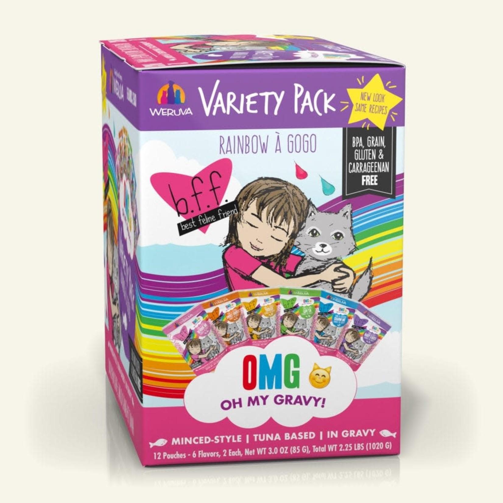 Weruva Inc. BFF OMG Cat Rainbow A' Gogo Variety Pack 12 - 3 OZ Pouches