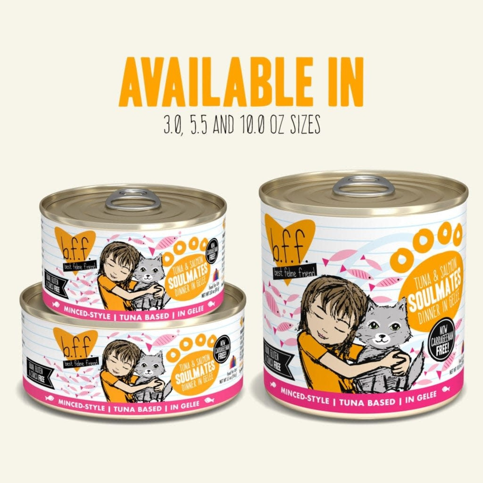 Weruva Inc. BFF Cat Tuna & Salmon Soulmates 5.5 OZ