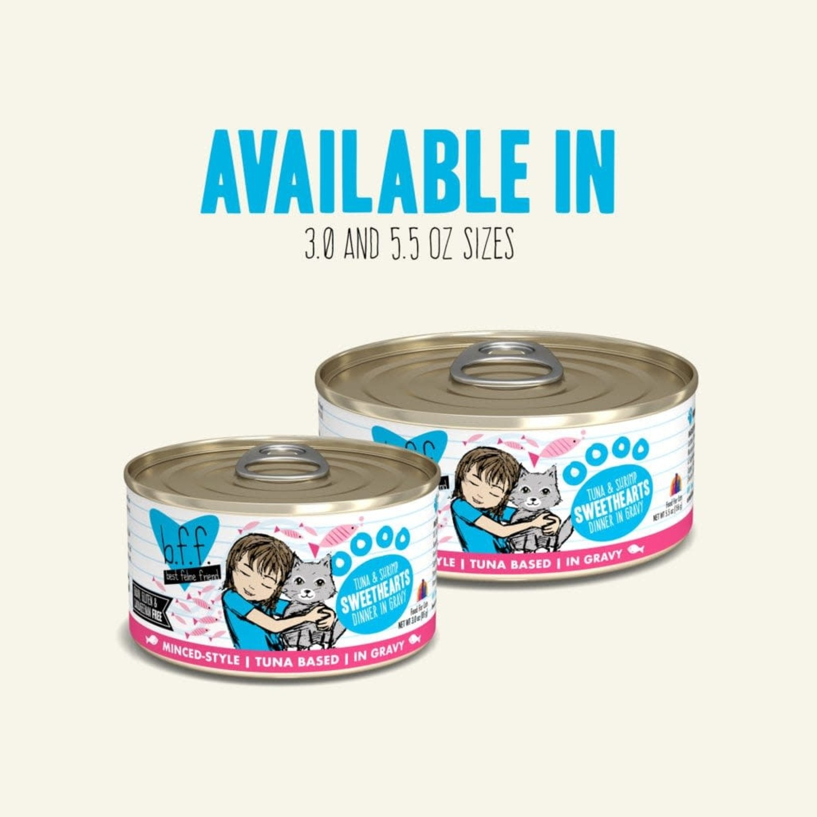 Weruva BFF Cat Tuna & Shrimp Sweethearts Can 3 OZ