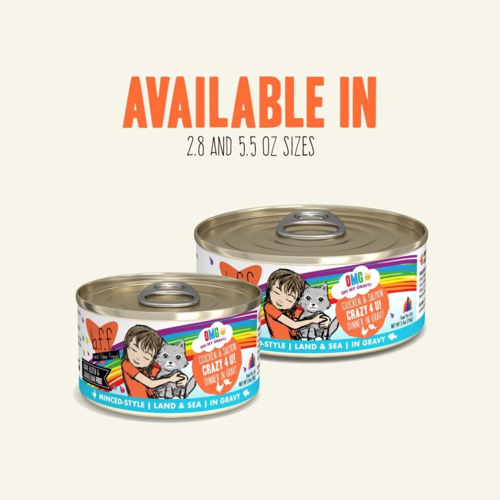 Weruva Inc. BFF OMG Cat Chicken & Salmon Crazy 4 U 2.8 OZ