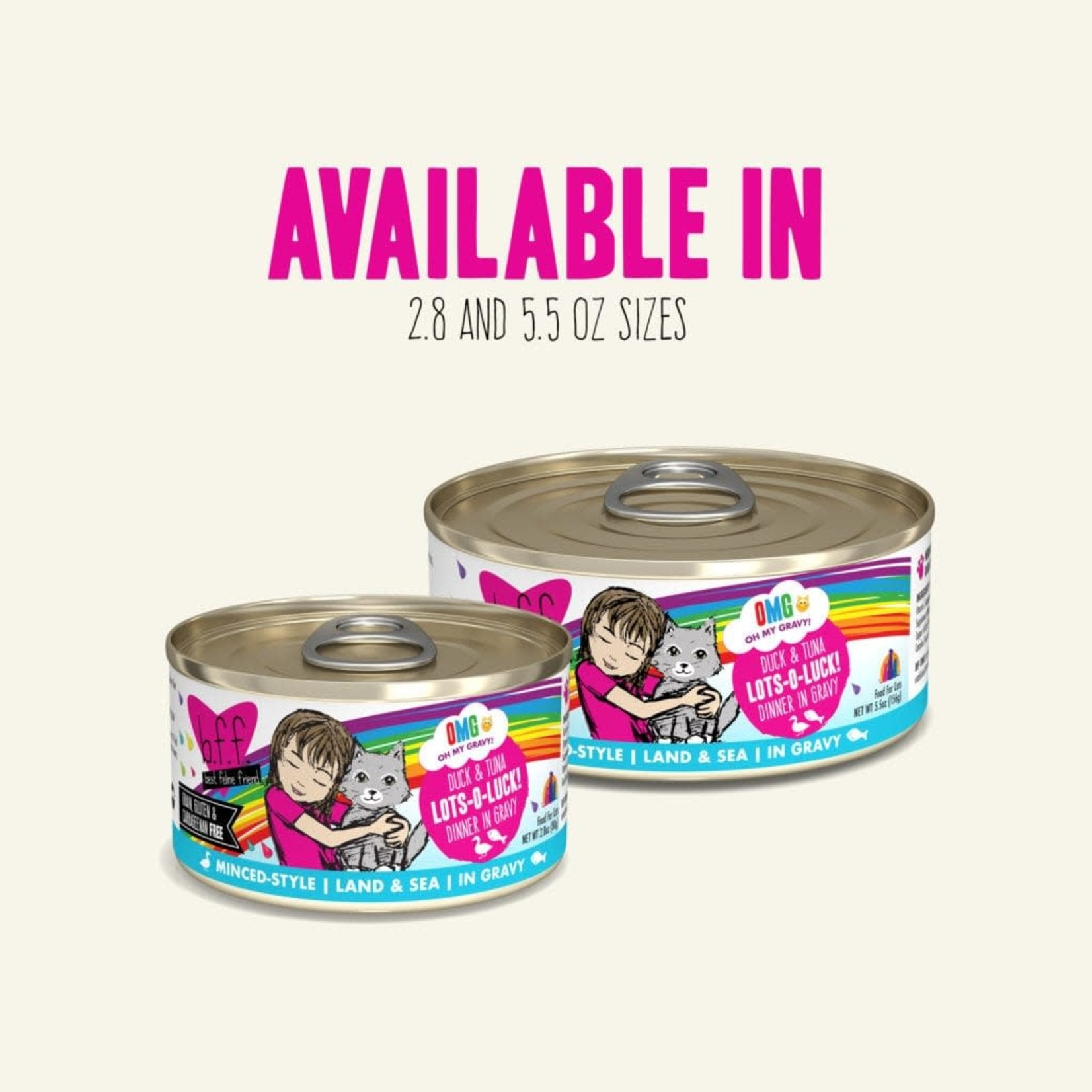 Weruva Inc. BFF OMG Cat Duck & Tuna Lots O Luck 5.5 OZ