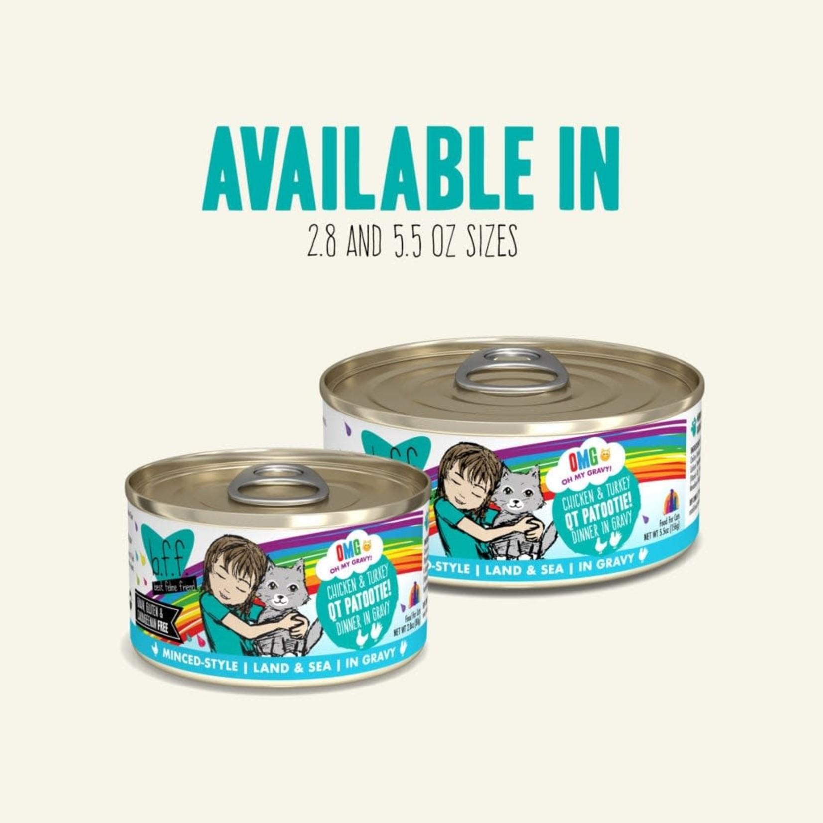Weruva Inc. BFF OMG Cat Chicken & Turkey  QT Patootie 5.5 OZ