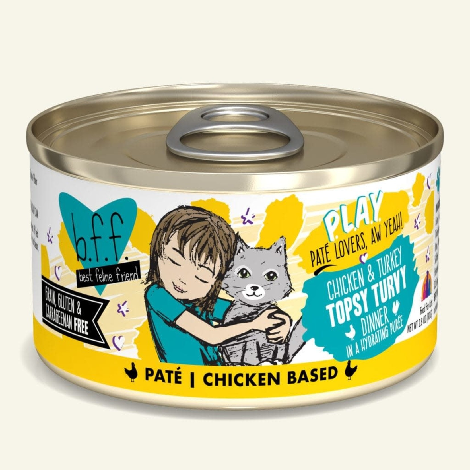 Weruva BFF PLAY Cat Chicken & Turkey Topsy Turvy 2.8 OZ