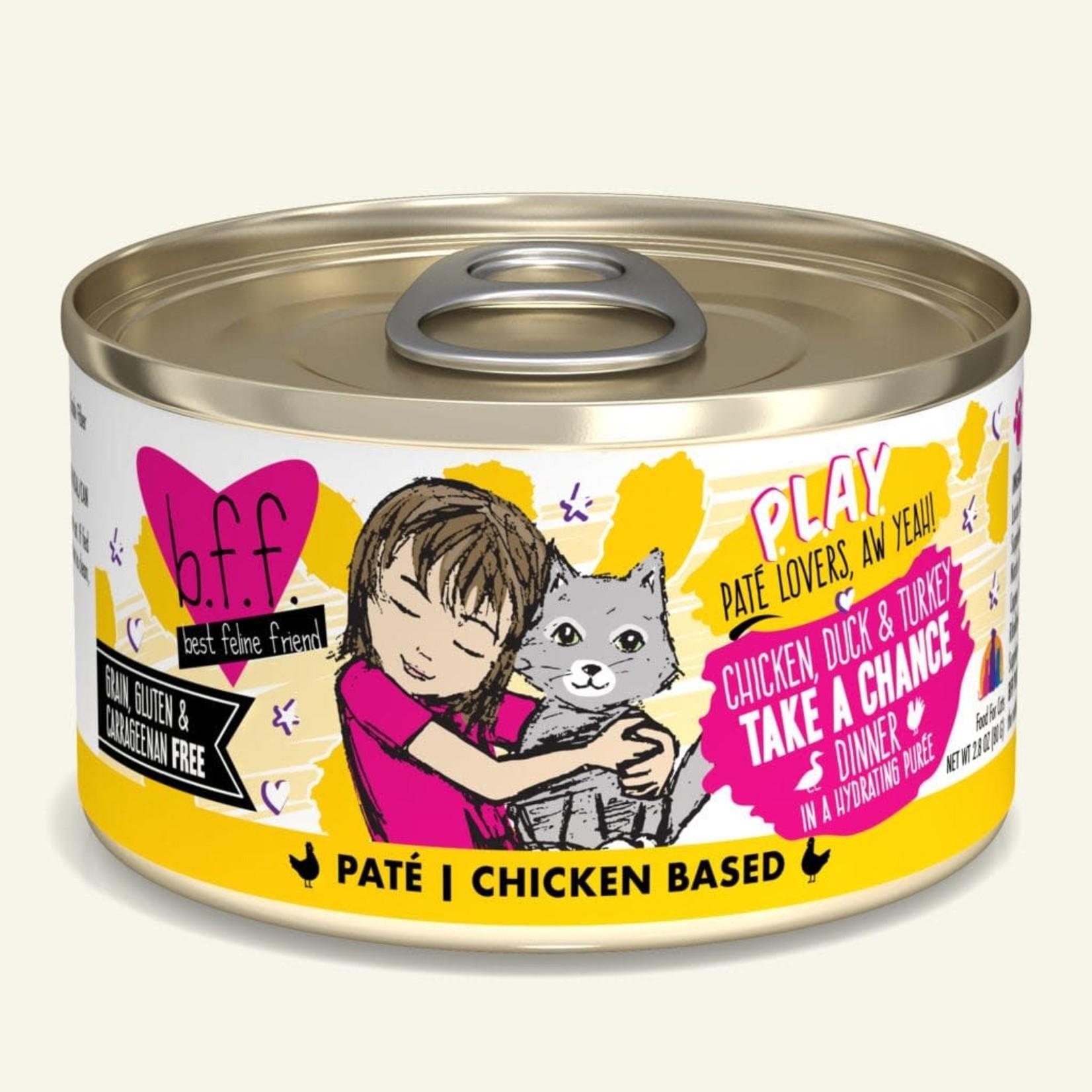 Weruva Inc. BFF PLAY Cat Chicken, Duck & Turkey Take A Chance 2.8 OZ