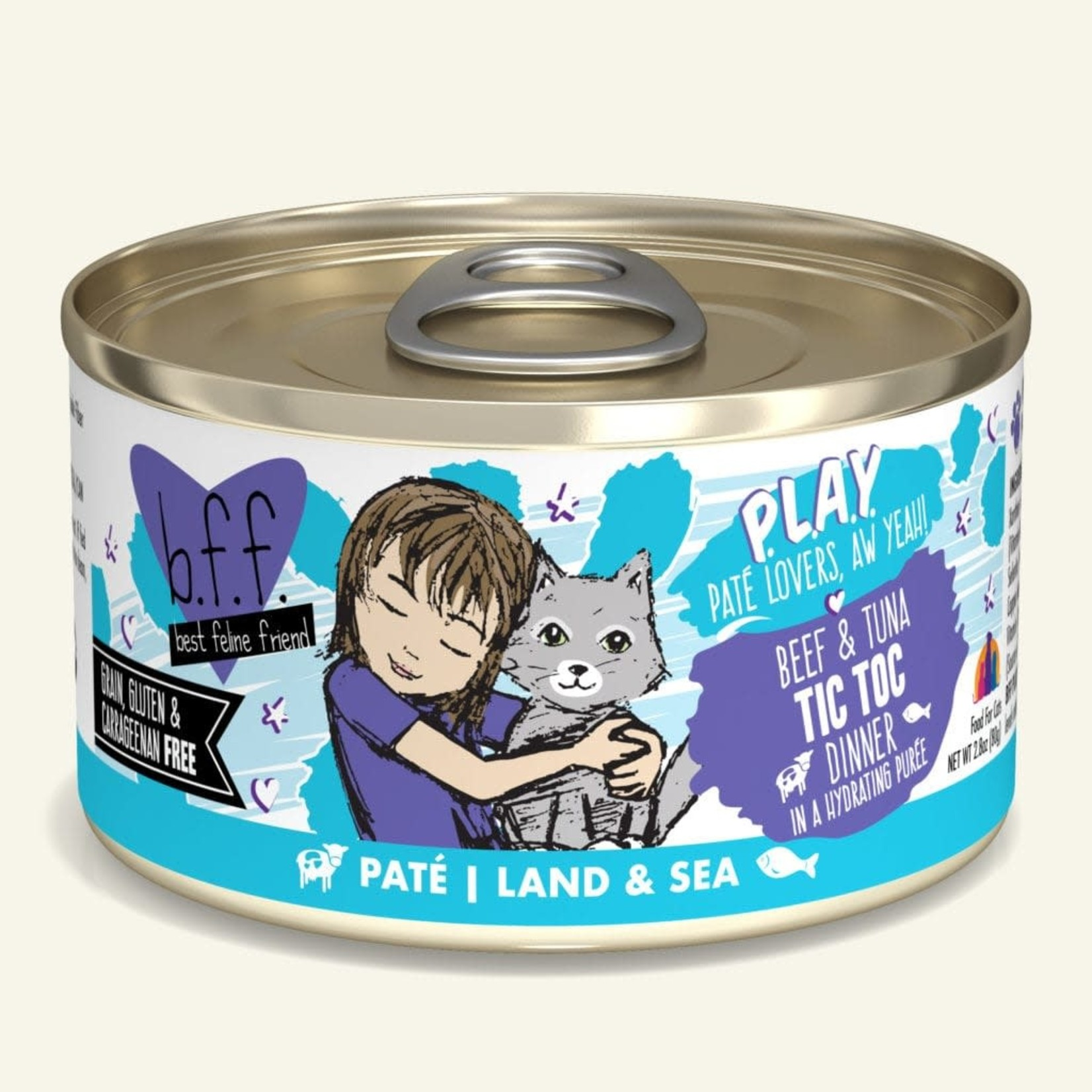 Weruva Inc. BFF PLAY Cat Beef & Tuna Tic Toc 2.8 OZ