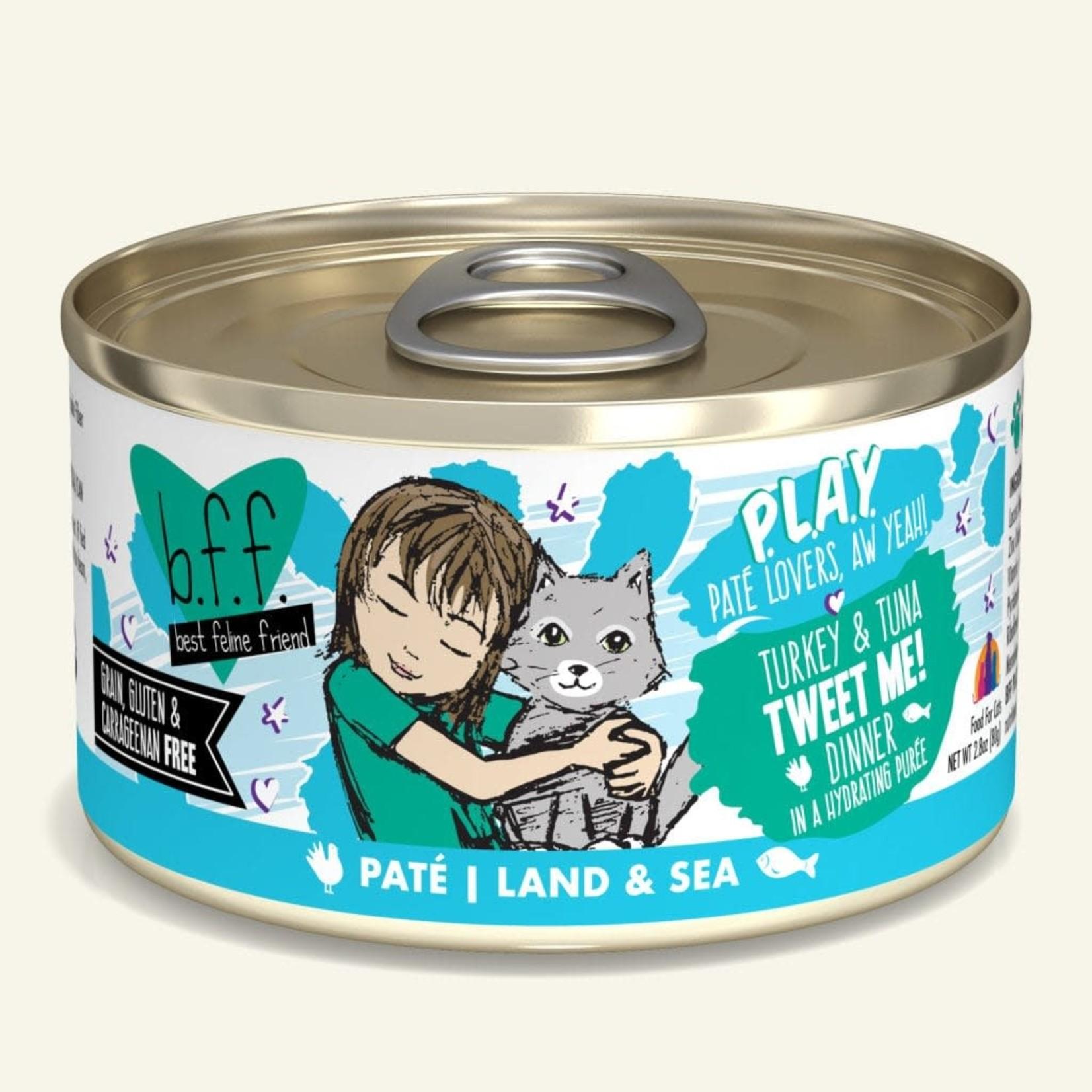 Weruva Inc. BFF PLAY Cat Turkey & Tuna Tweet Me 2.8 OZ