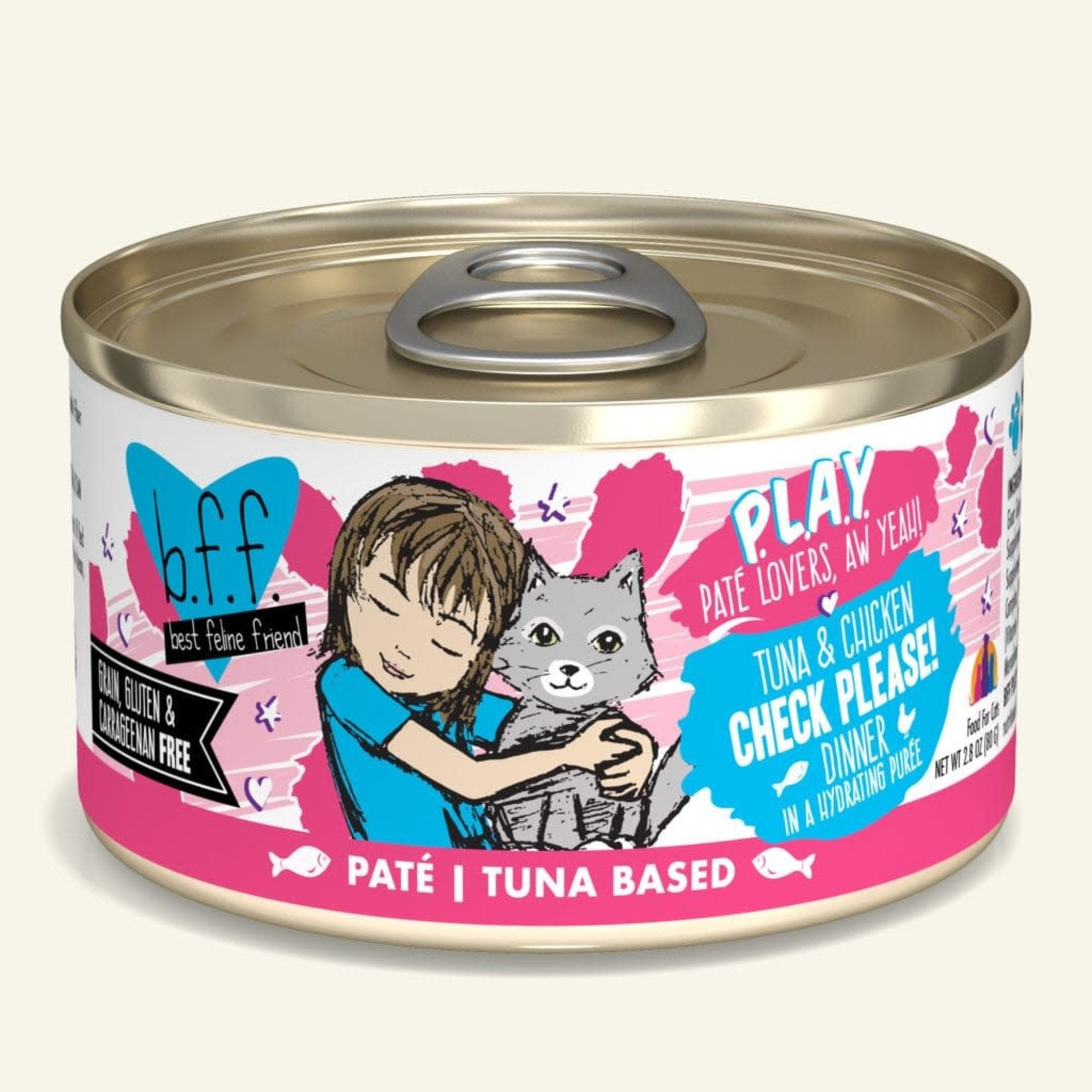 Weruva Inc. BFF PLAY Cat Tuna & Chicken Check Please 2.8 OZ
