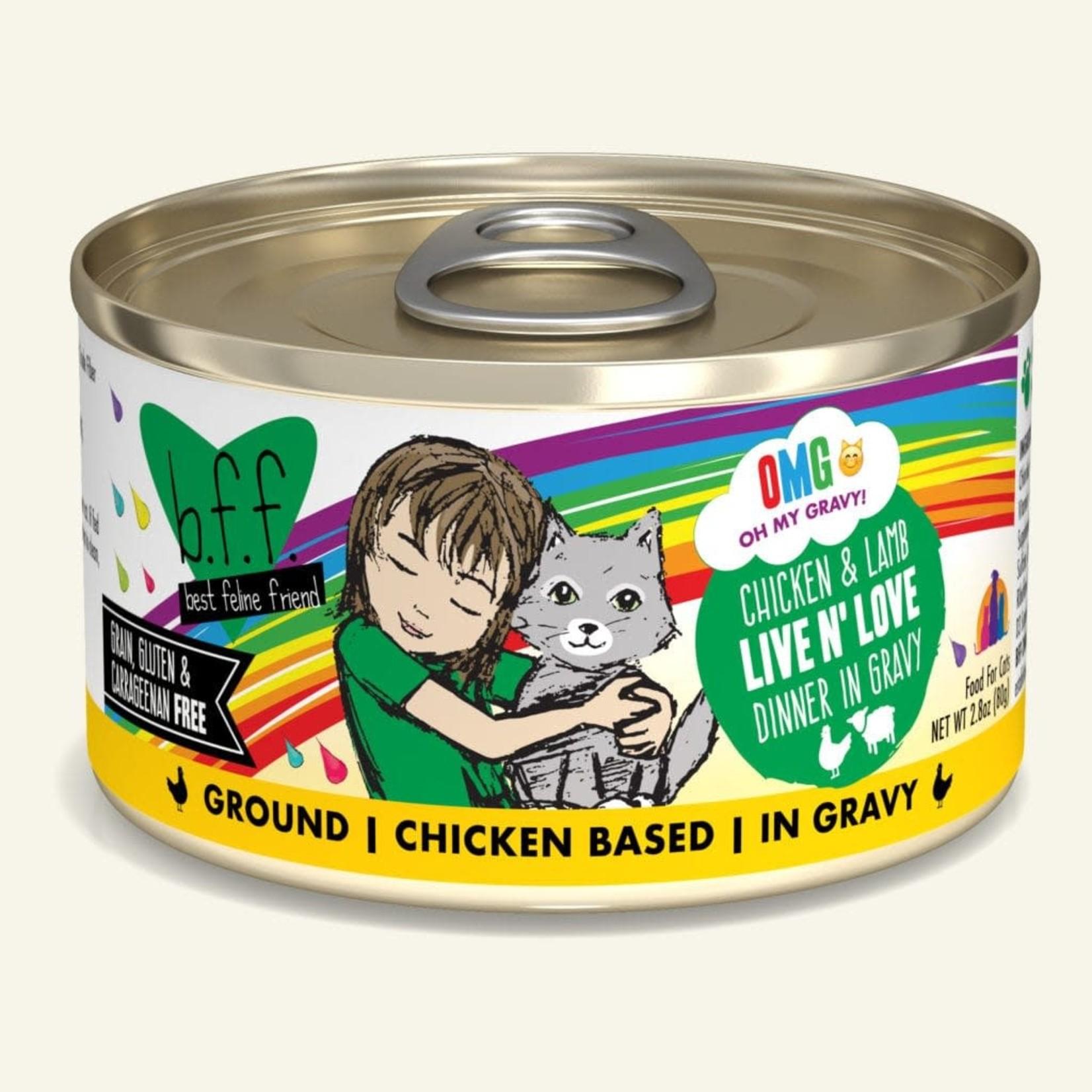 Weruva Inc. BFF OMG Cat Chicken & Lamb Live N' Love 2.8 OZ