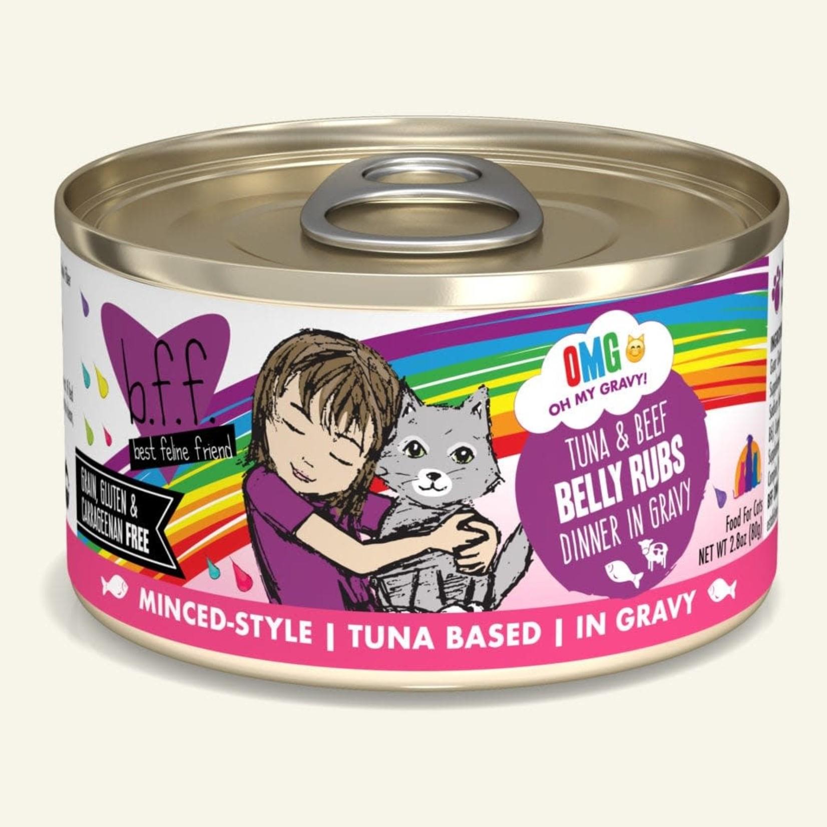 Weruva BFF OMG Cat Tuna & Beef Belly Rubs 2.8 OZ