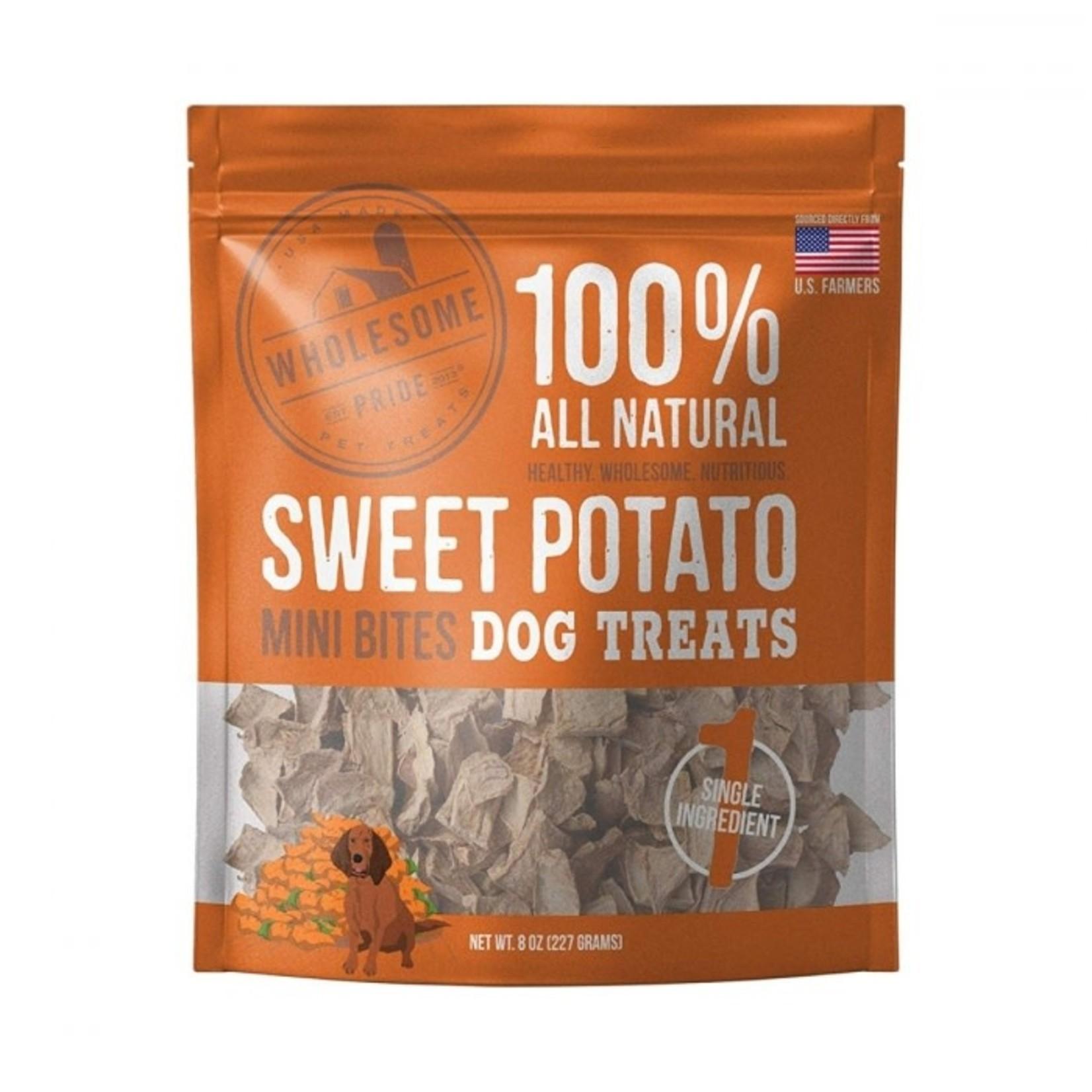 Wholesome Pride Wholesome Pride Dog Sweet Potato Mini Bites 8 OZ