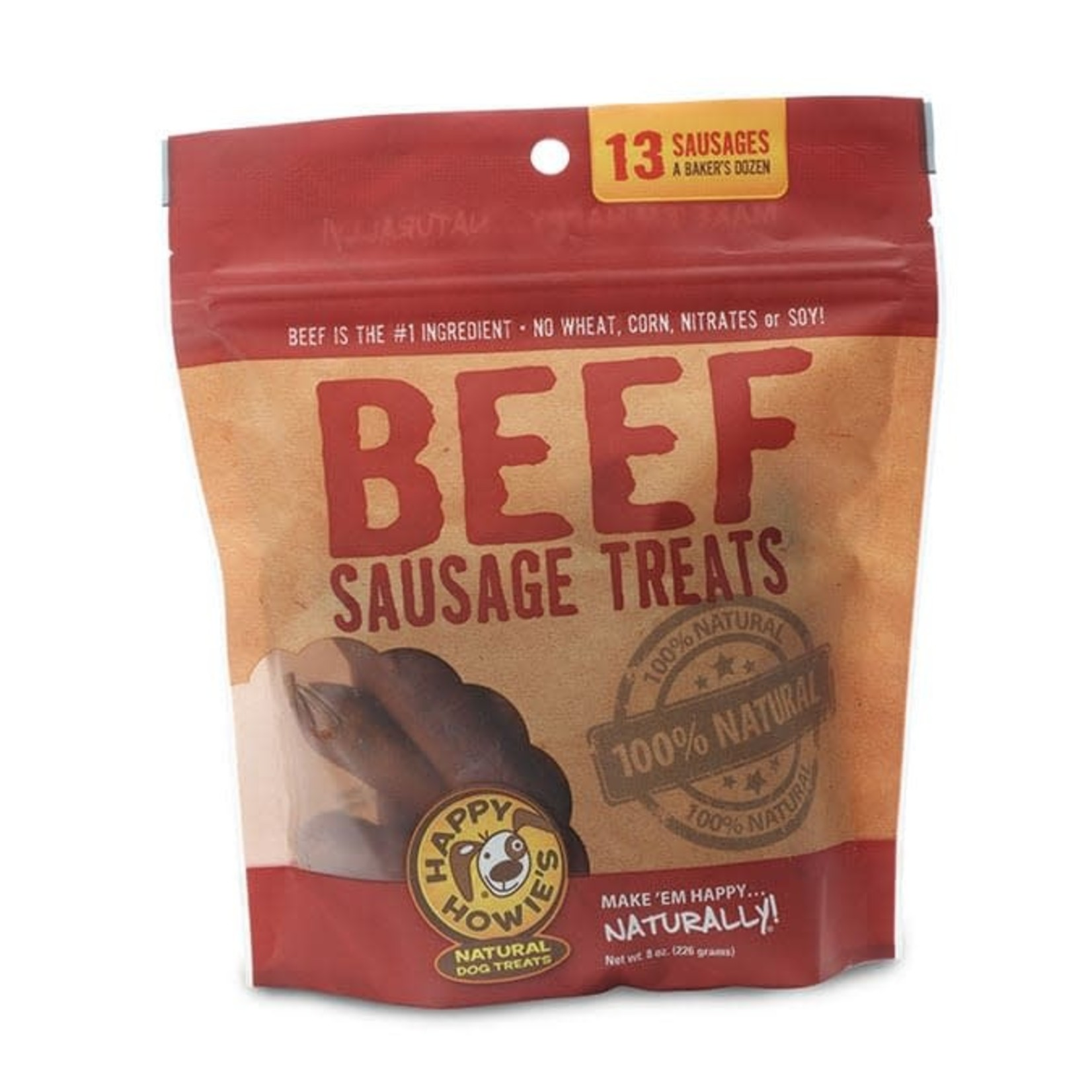 """Happy Howie's Happy Howie's Beef Sausage 4"""" Baker's Dozen"""
