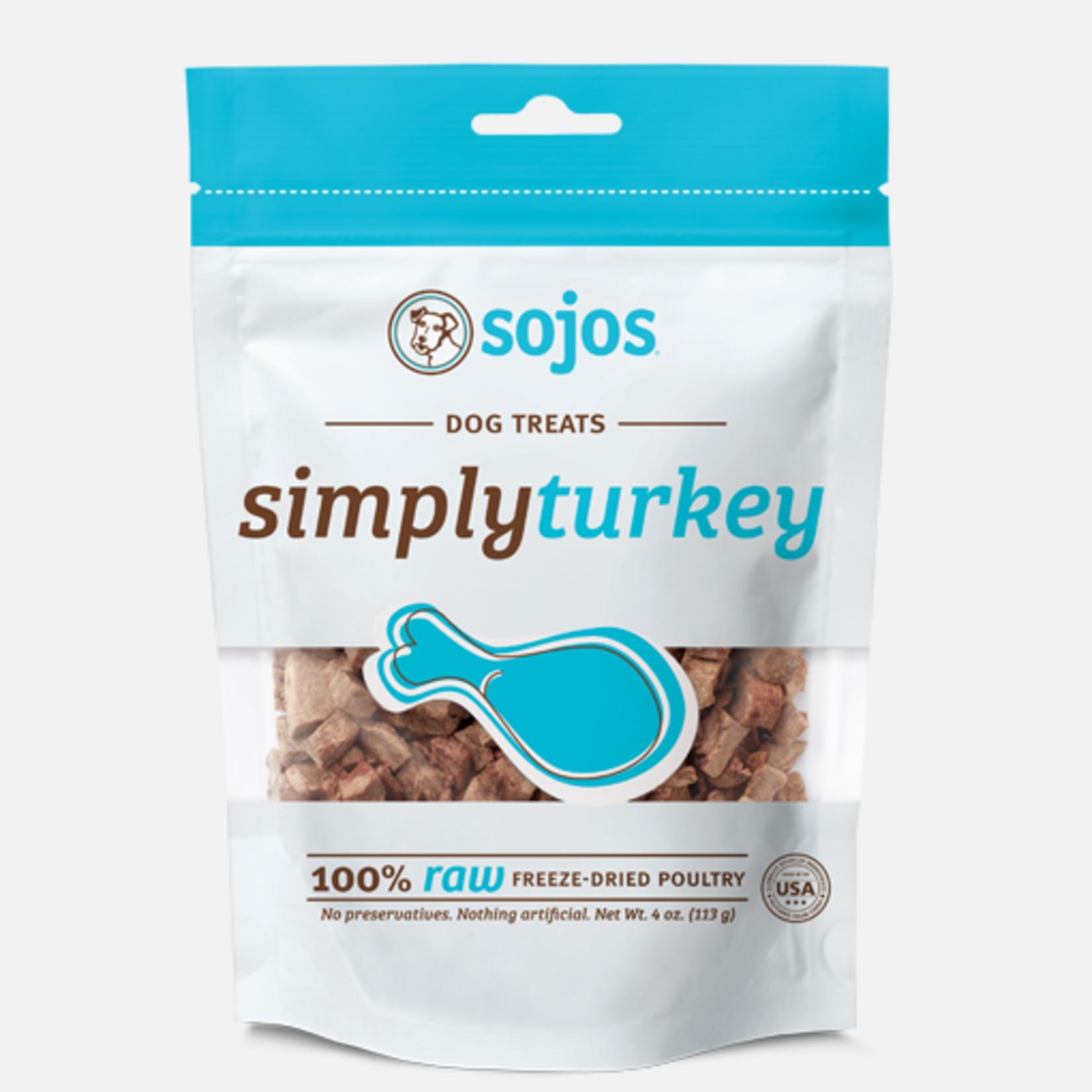 Sojos Sojos Dog Simply Turkey Treat 4 OZ