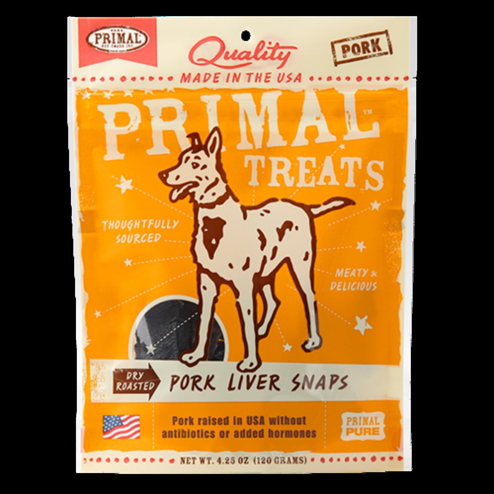 Primal Pet Foods Primal Dog Pork Liver Snaps 4.25 OZ