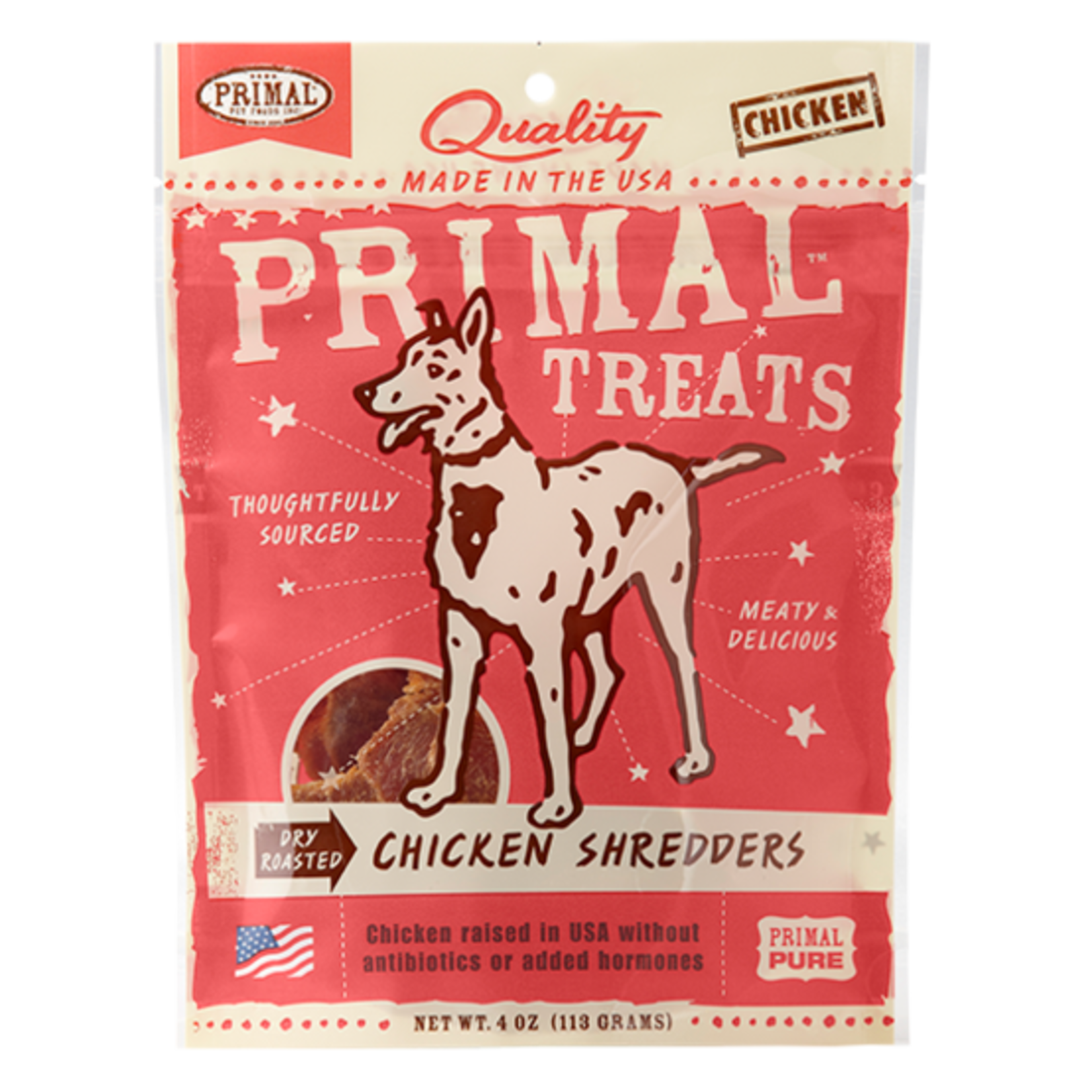 Primal Pet Foods Primal Dog Chicken Shredders 4 OZ