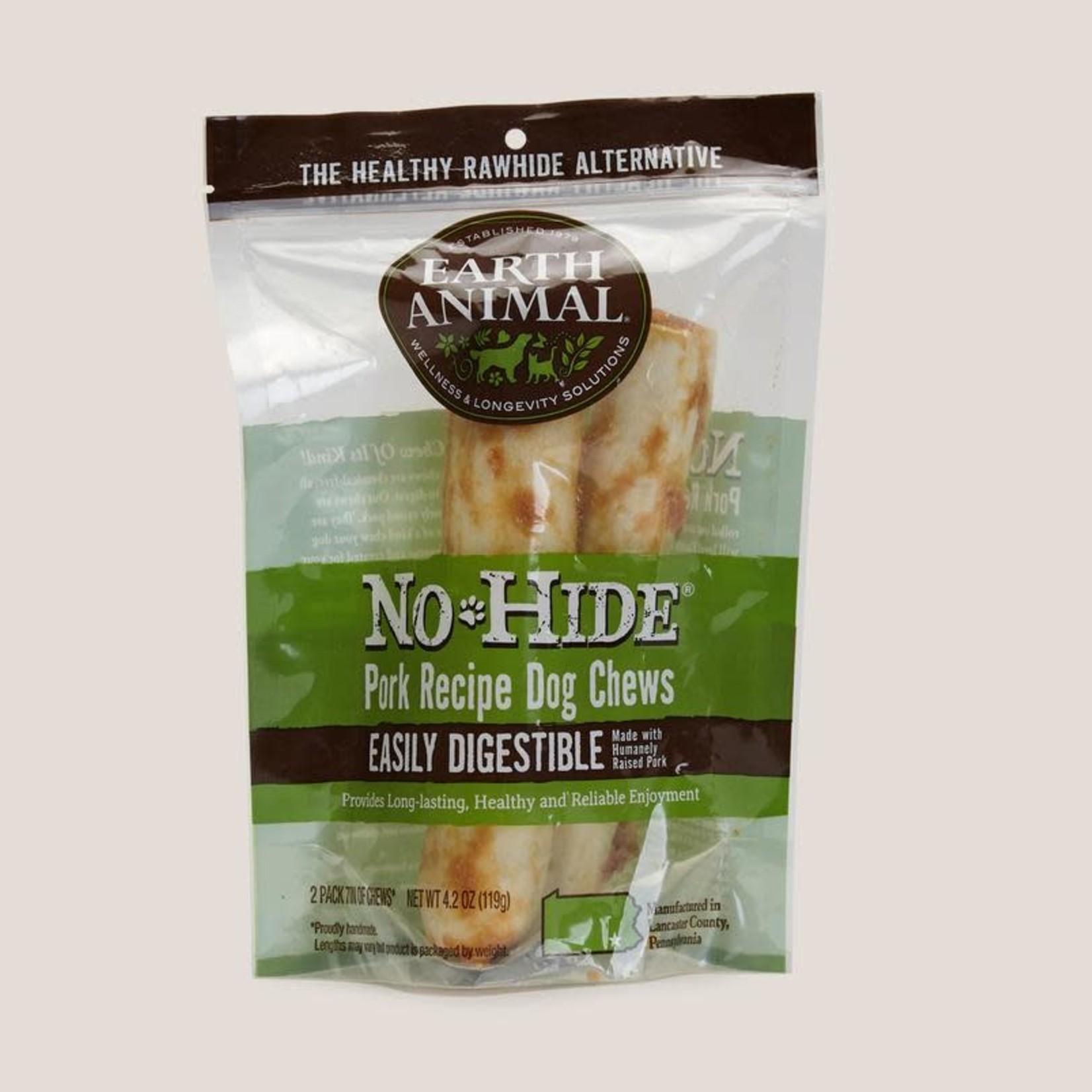 "Earth Animal Earth Animal Dog No Hide Pork 7"" 2 PACK"