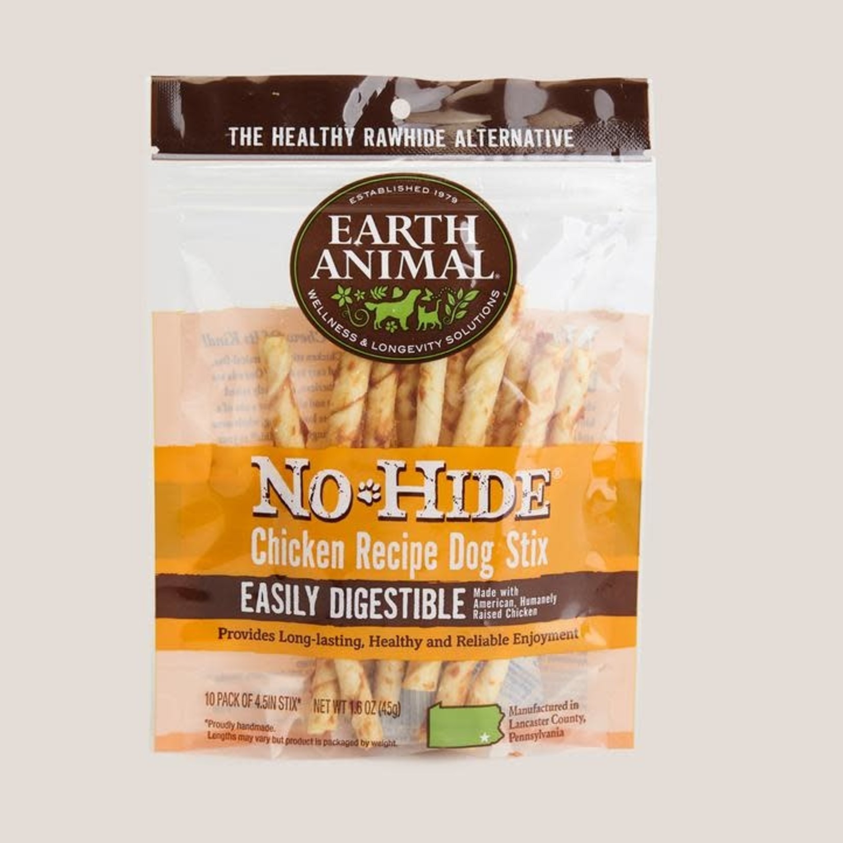 Earth Animal Earth Animal Dog No Hide Chicken Stix 10 PACK