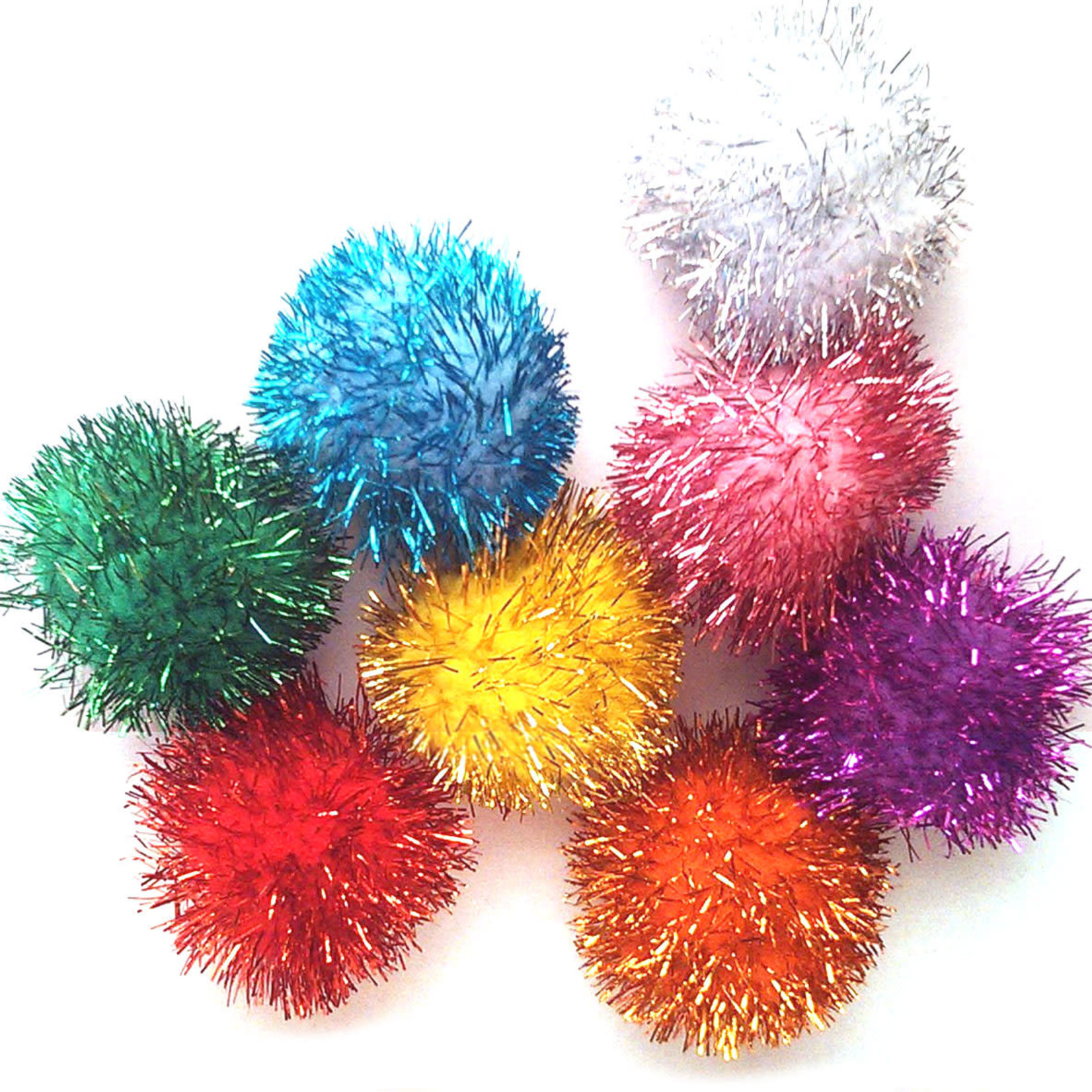 "Chenille Kraft Company Glitter Poms for Cats Small 1.5"" (Single)"