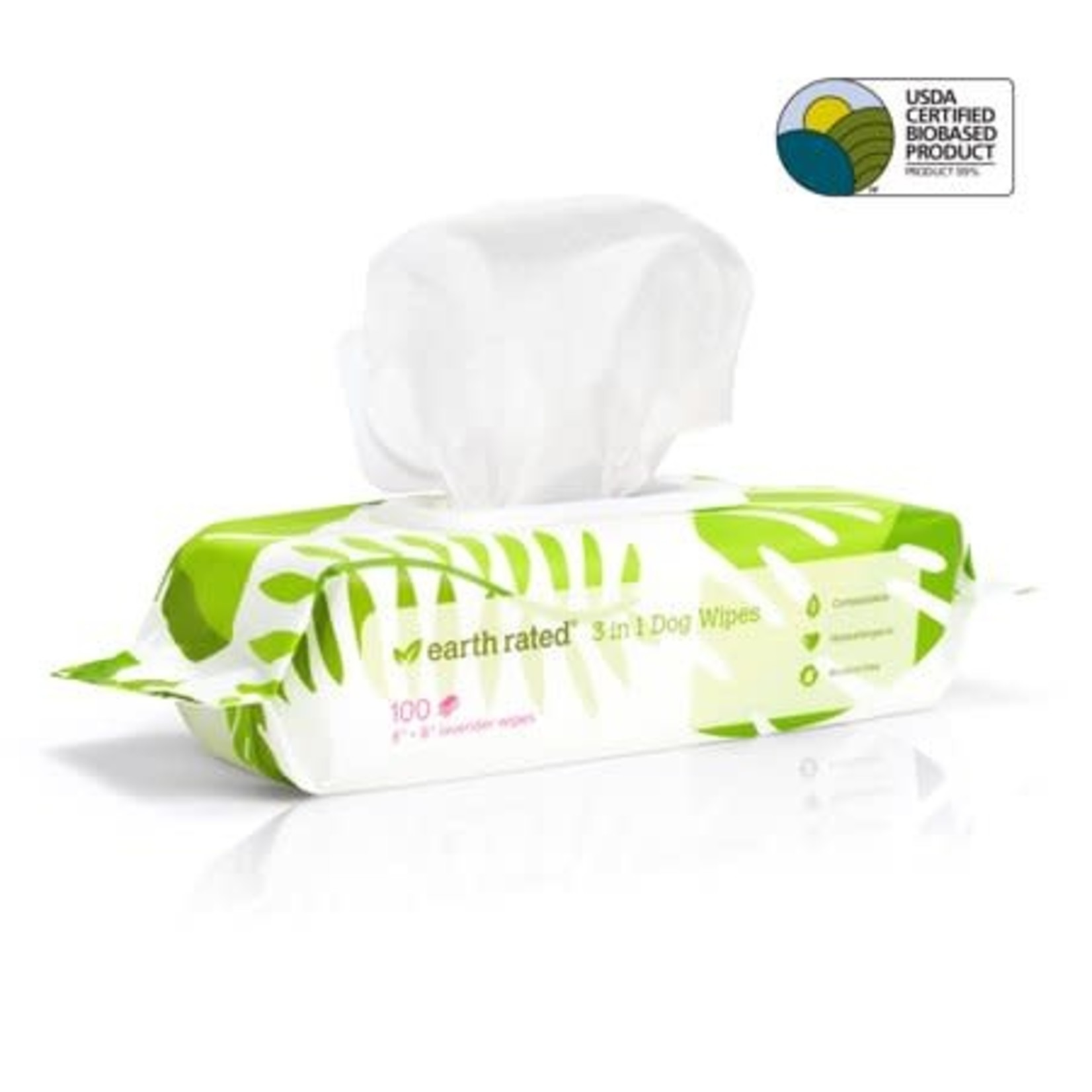 Earth Rated Earth Rated Grooming Wipes Lavender 100 Count