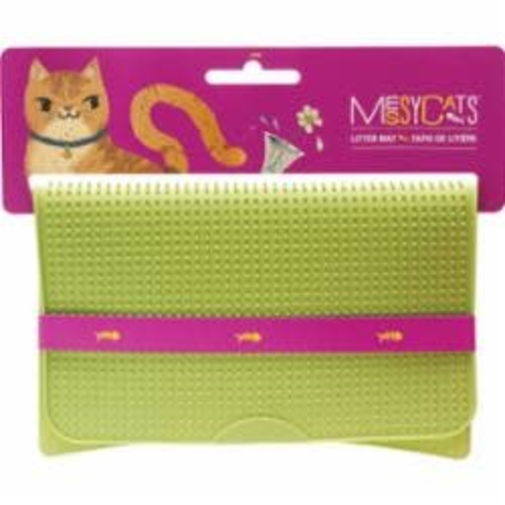 Messy Mutts Messy Mutts Cat Silicone Litter Mat Green