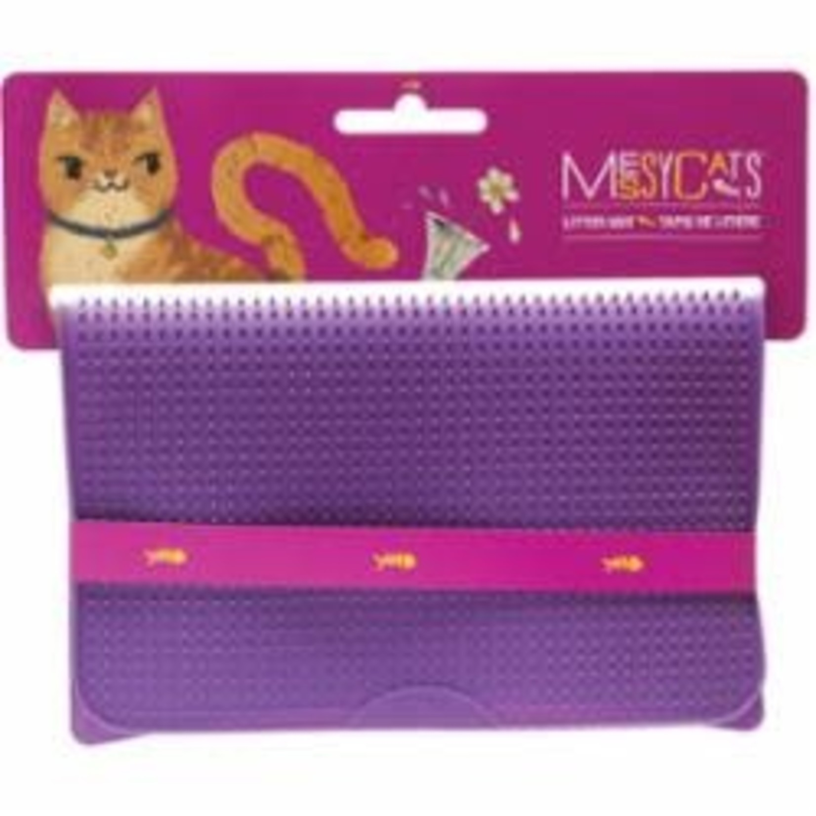 Messy Mutts Messy Mutts Cat Silicone Litter Mat Purple