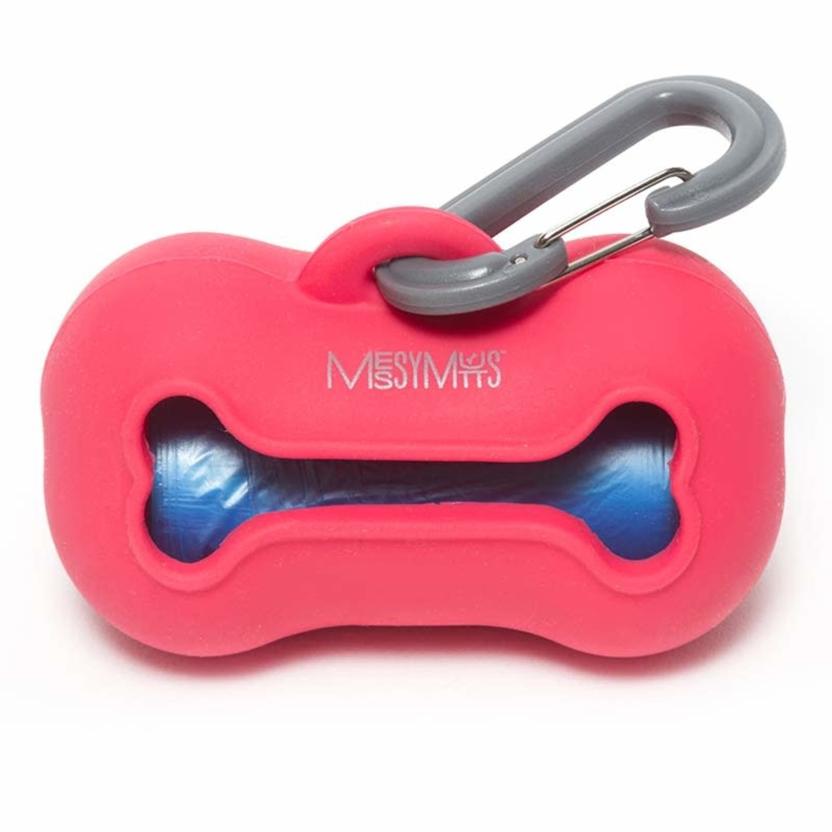 Messy Mutts Messy Mutts Silicone Waste Bag Holder Red