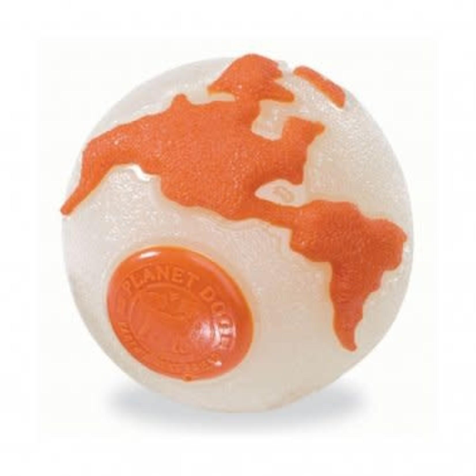 Planet Dog Planet Dog Orbee Ball Orange/Glow Large