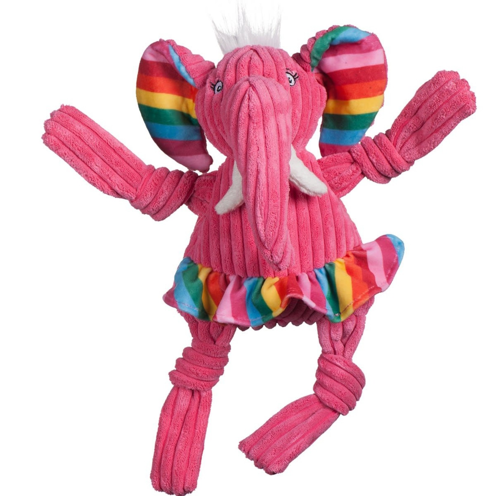 HuggleHounds Hugglehounds Dog Knotties Rainbow Elephant Large