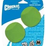 Chuck-it Chuckit D Erratic Ball Medium 2 Pack