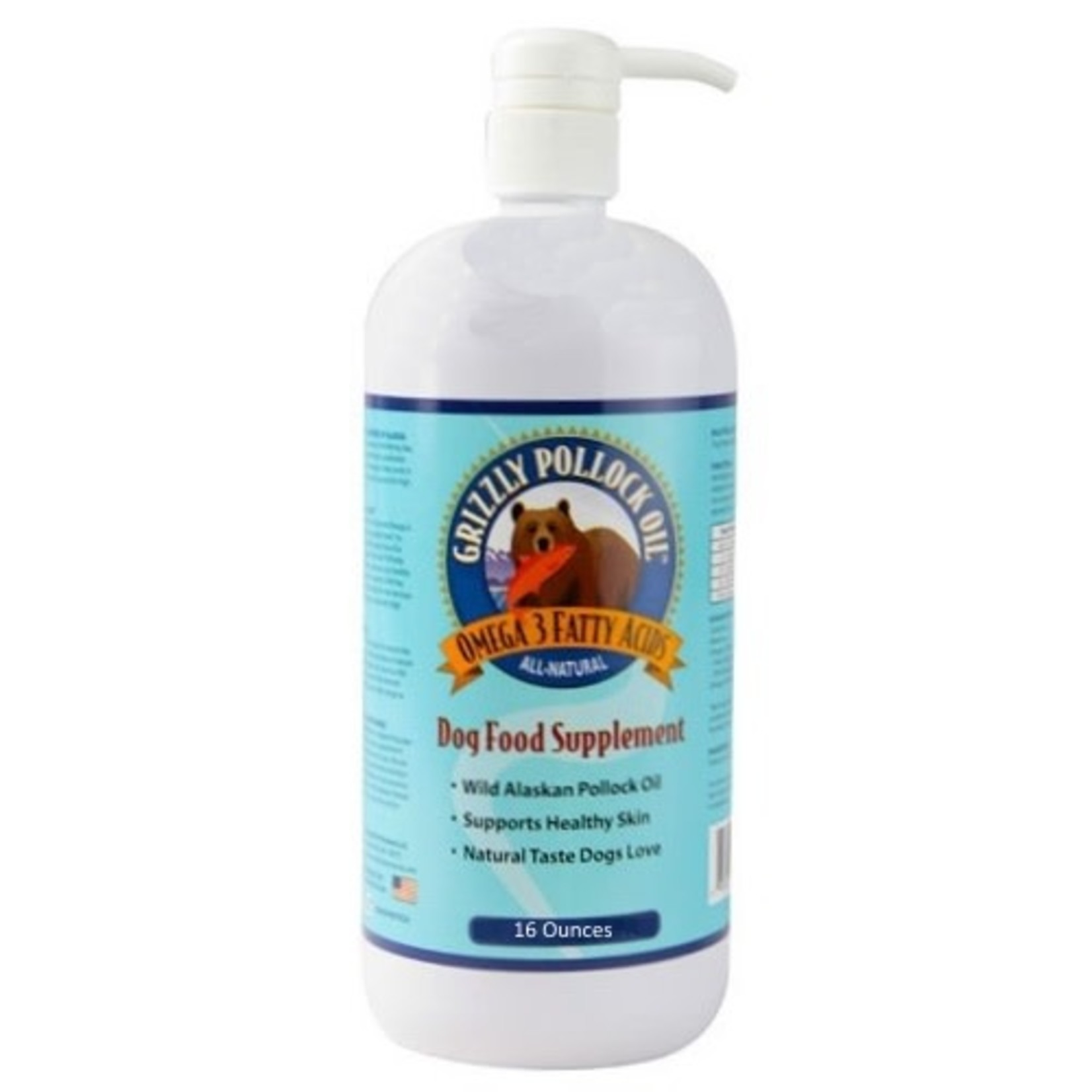 Grizzly Pet Products Grizzly Pollock Oil Dog 16 OZ