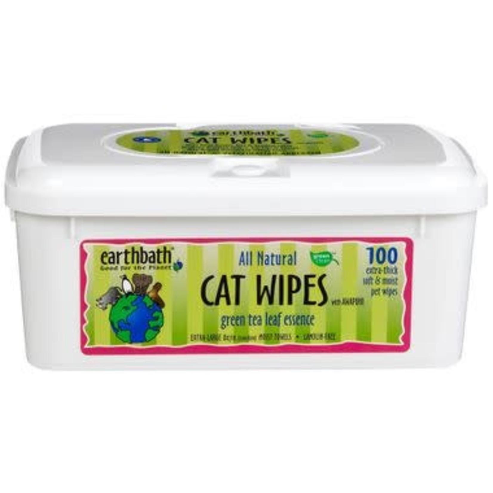 Earth Bath / Shea Pet Earth Bath Cat Wipes Green Tea 100 Count