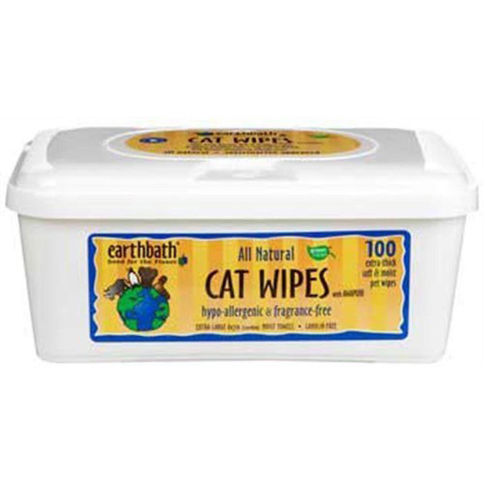 Earth Bath / Shea Pet Earth Bath Cat Wipes Hypoallergenic 100 Count