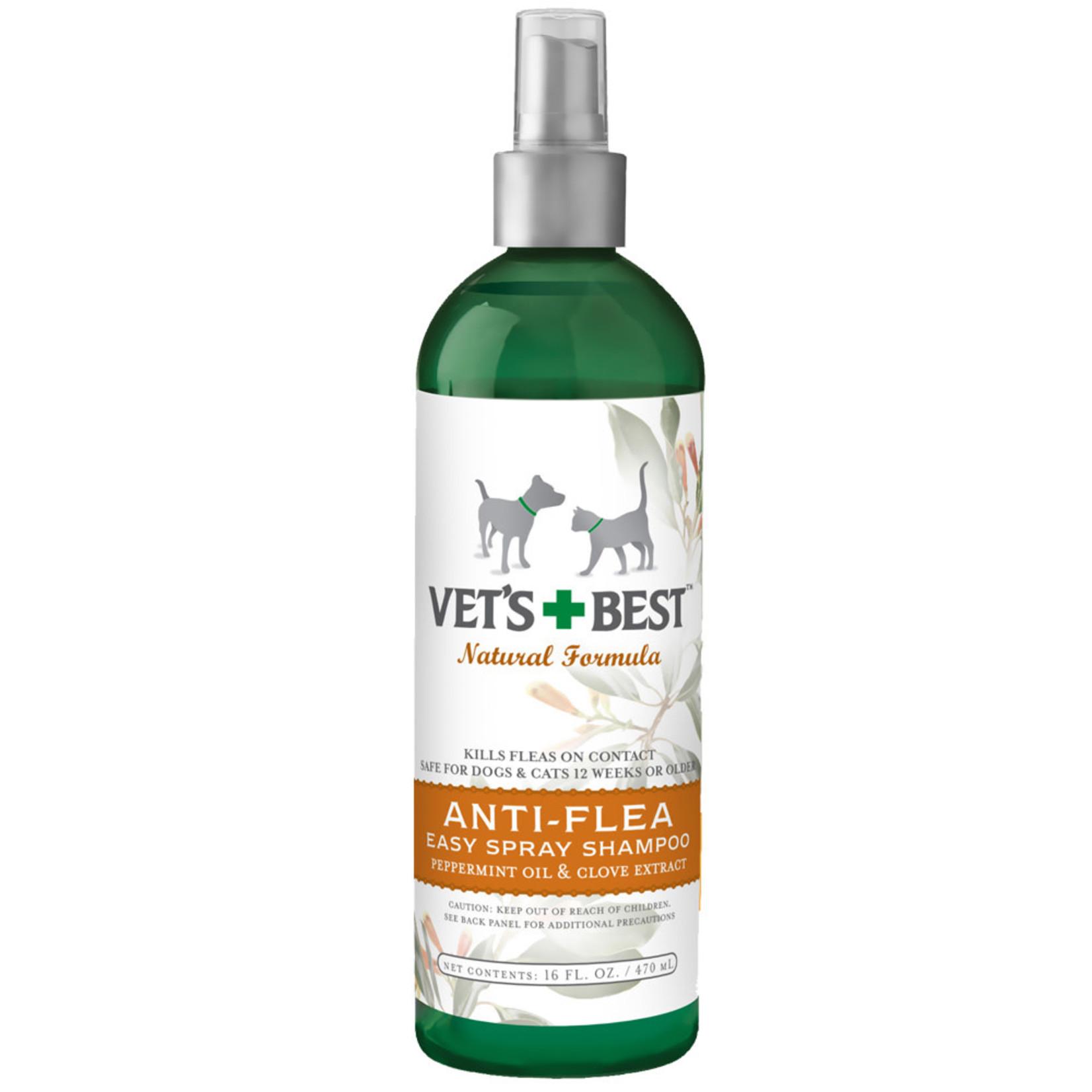 Vet's Best Vets Best Nat Anti-Flea Spray Shampoo 16 OZ