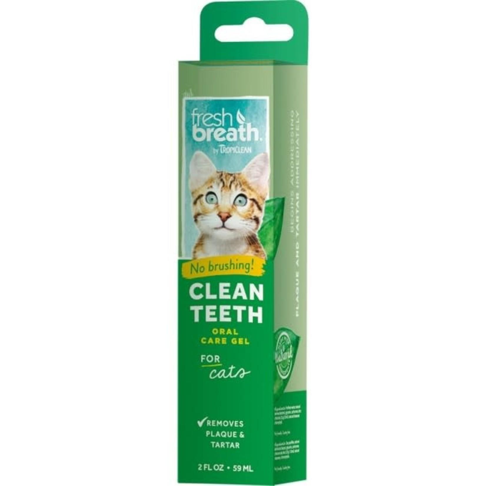 Tropiclean Fresh Breath Cat Brushing Gel 2 OZ