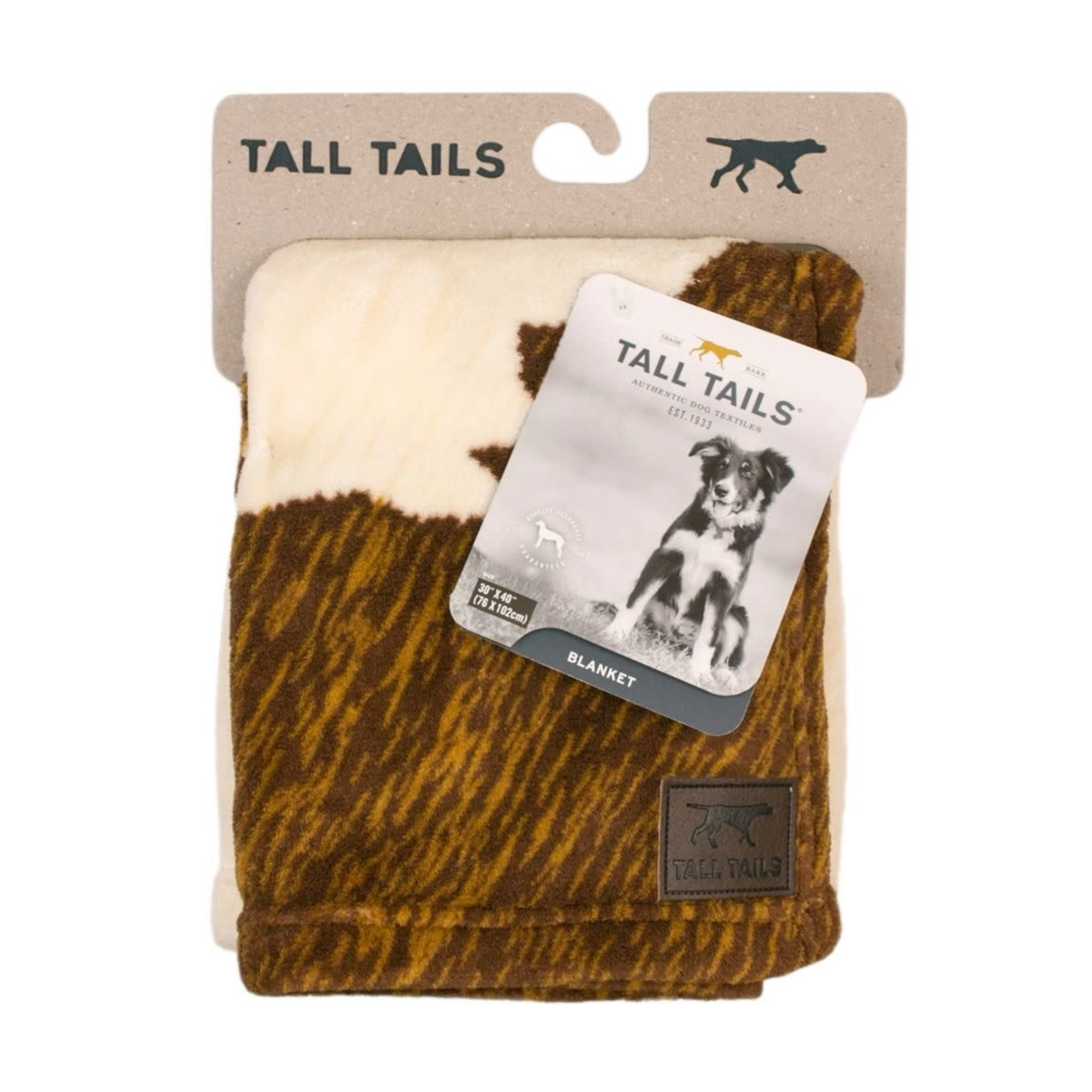 """Tall Tails Tall Tails Cowhide Print Dog Blanket 30"""" x 40"""""""