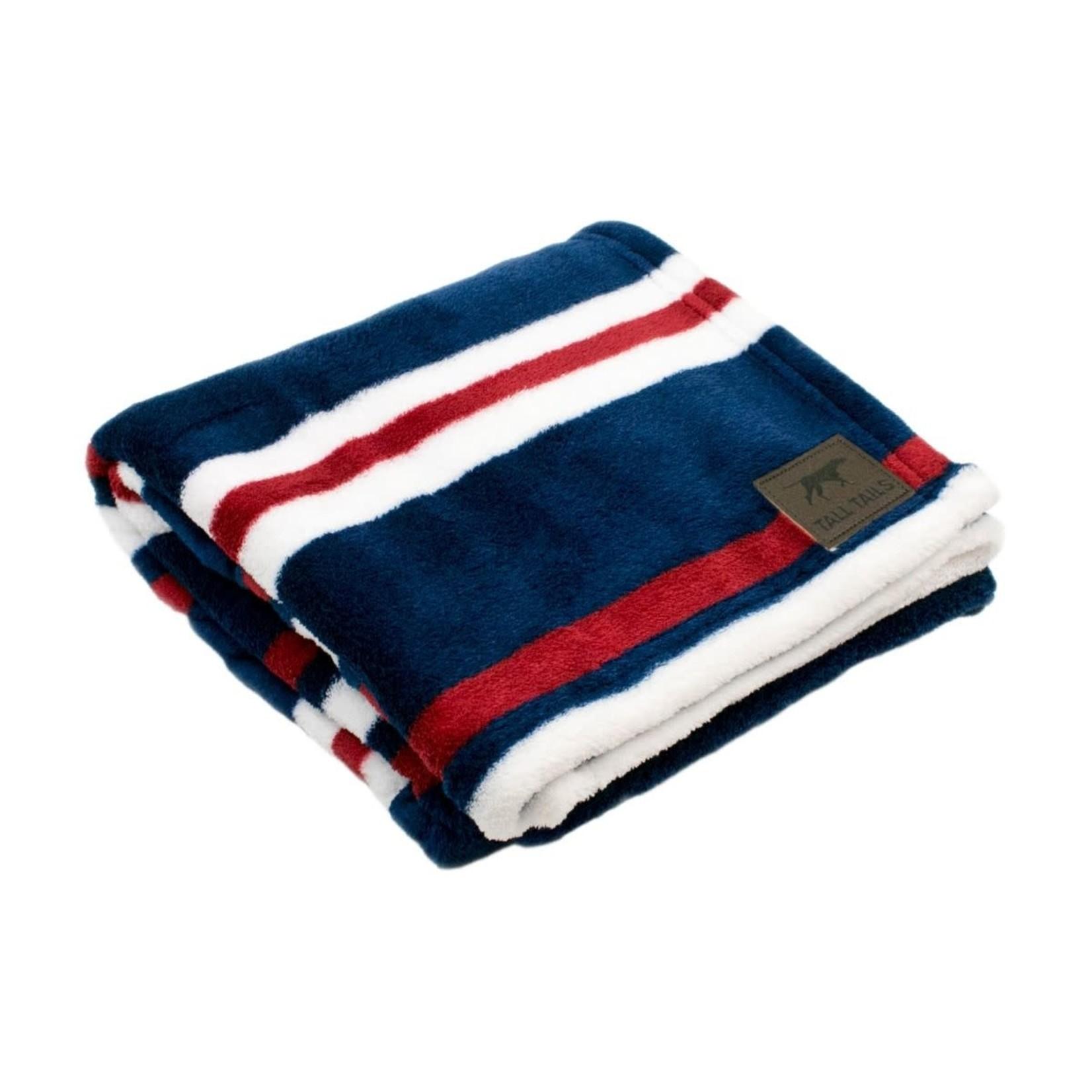 "Tall Tails Tall Tails Nautical Stripe Dog Blanket 30"" x 40"""