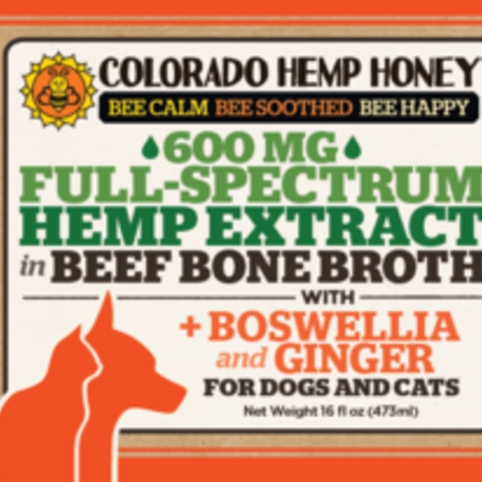 Colorado Hemp Honey Colorado Hemp Full Spectrum 600 MG Beef Bone Broth