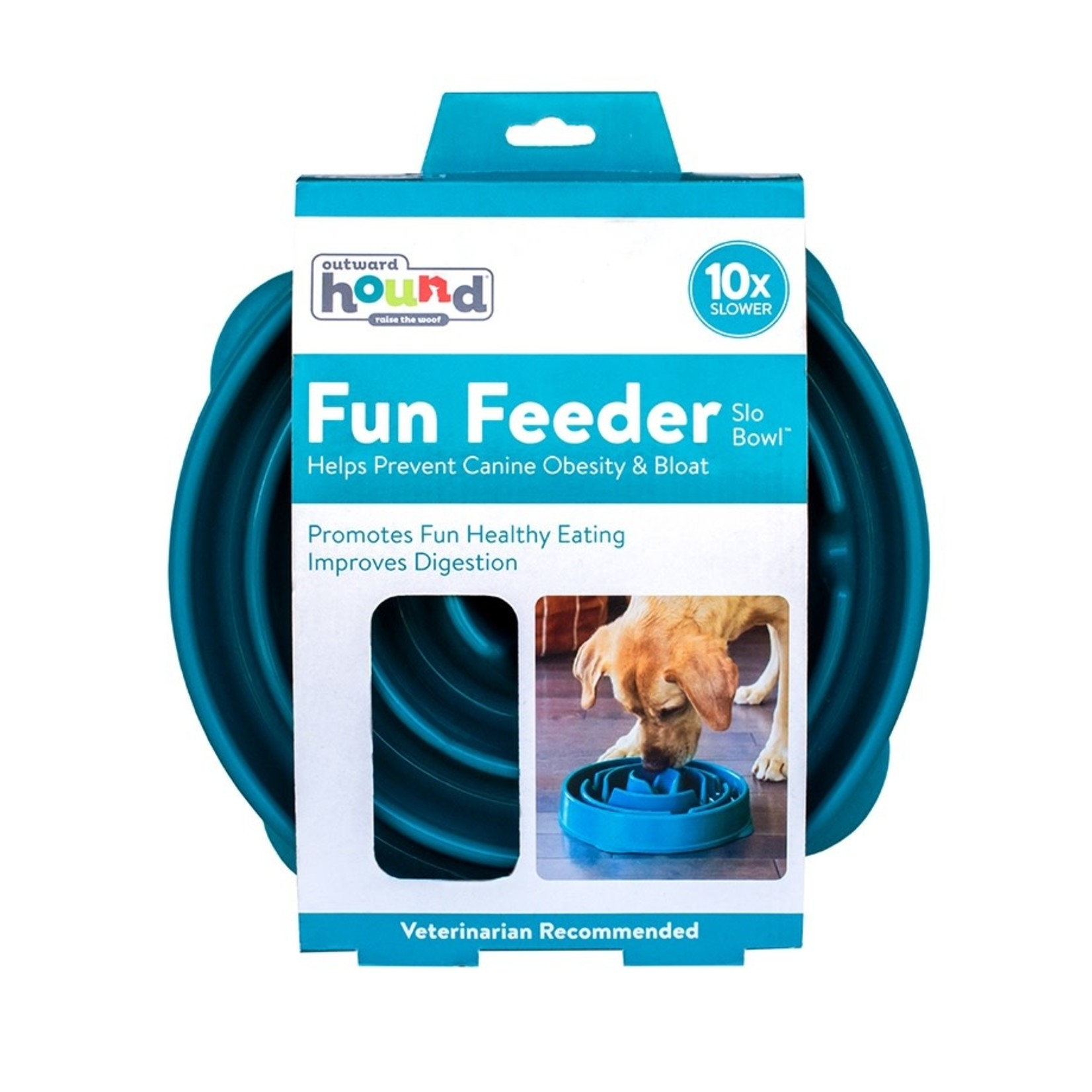 Outward Hound Outward Hound Fun Feeder Teal Large