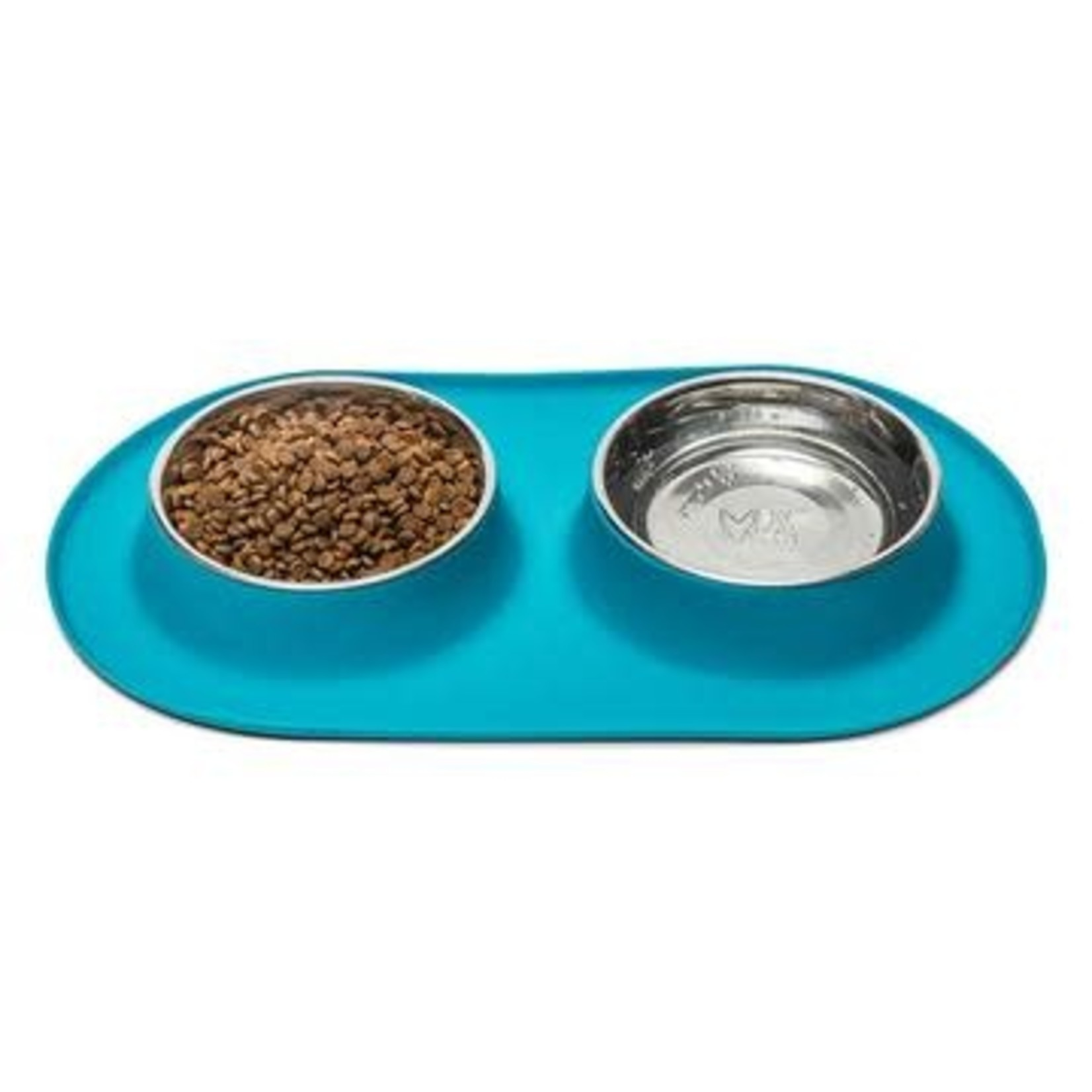 Messy Mutts Messy Mutts Dog Double Silicone Feeder Blue 1.5 CUP