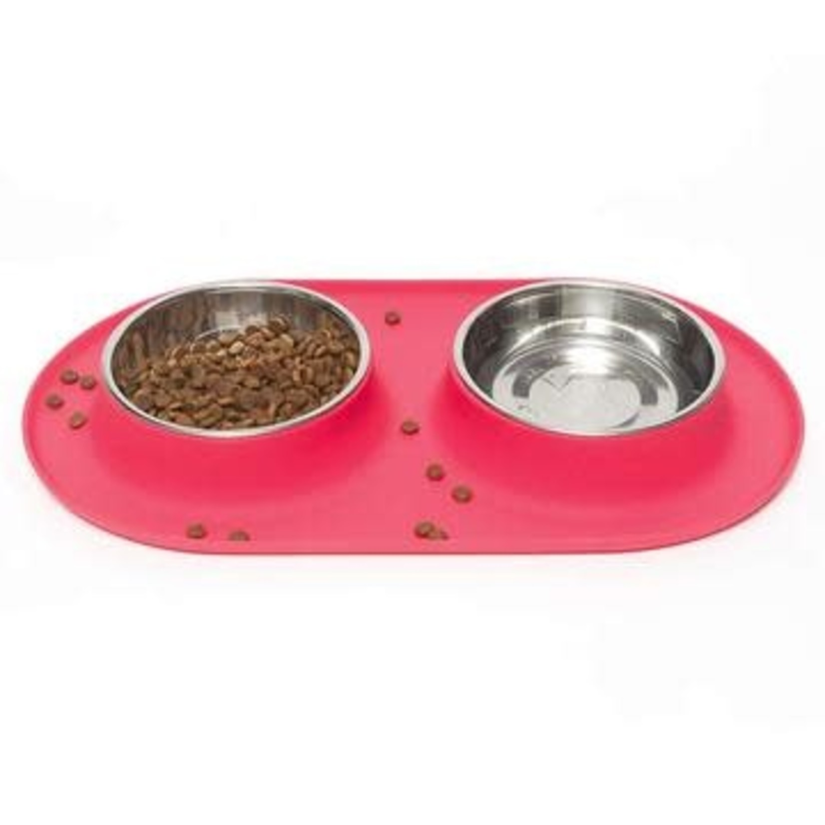 Messy Mutts Messy Mutts Dog Double Silicone Feeder Red 3 CUP