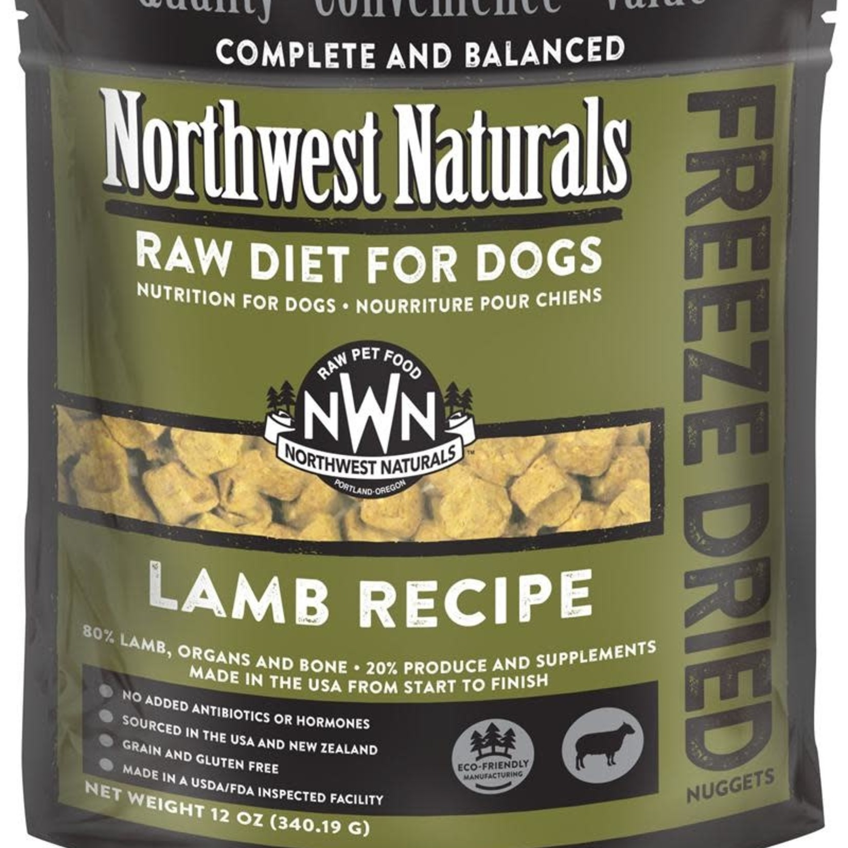 Northwest Naturals Northwest Naturals Dog Freeze-dried Lamb Nuggets 12 OZ